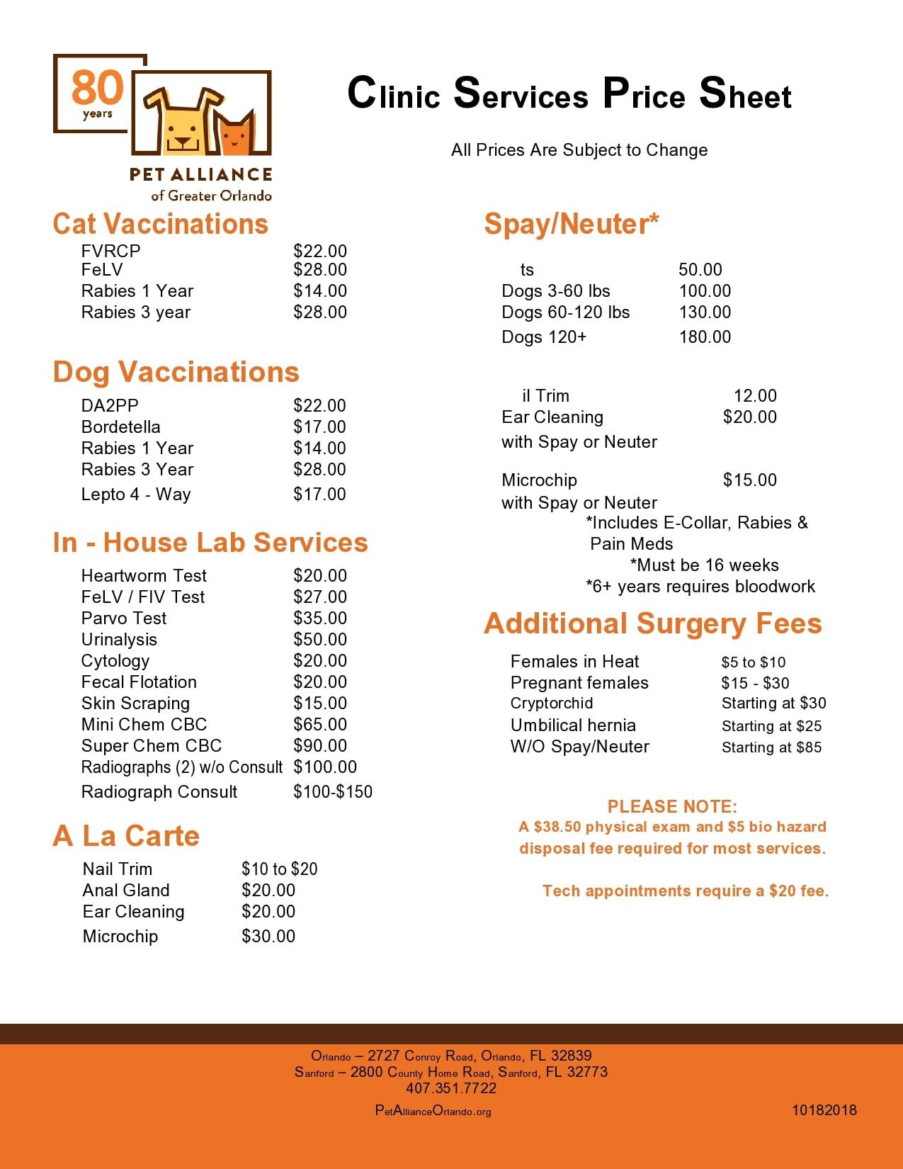 price sheet template 24