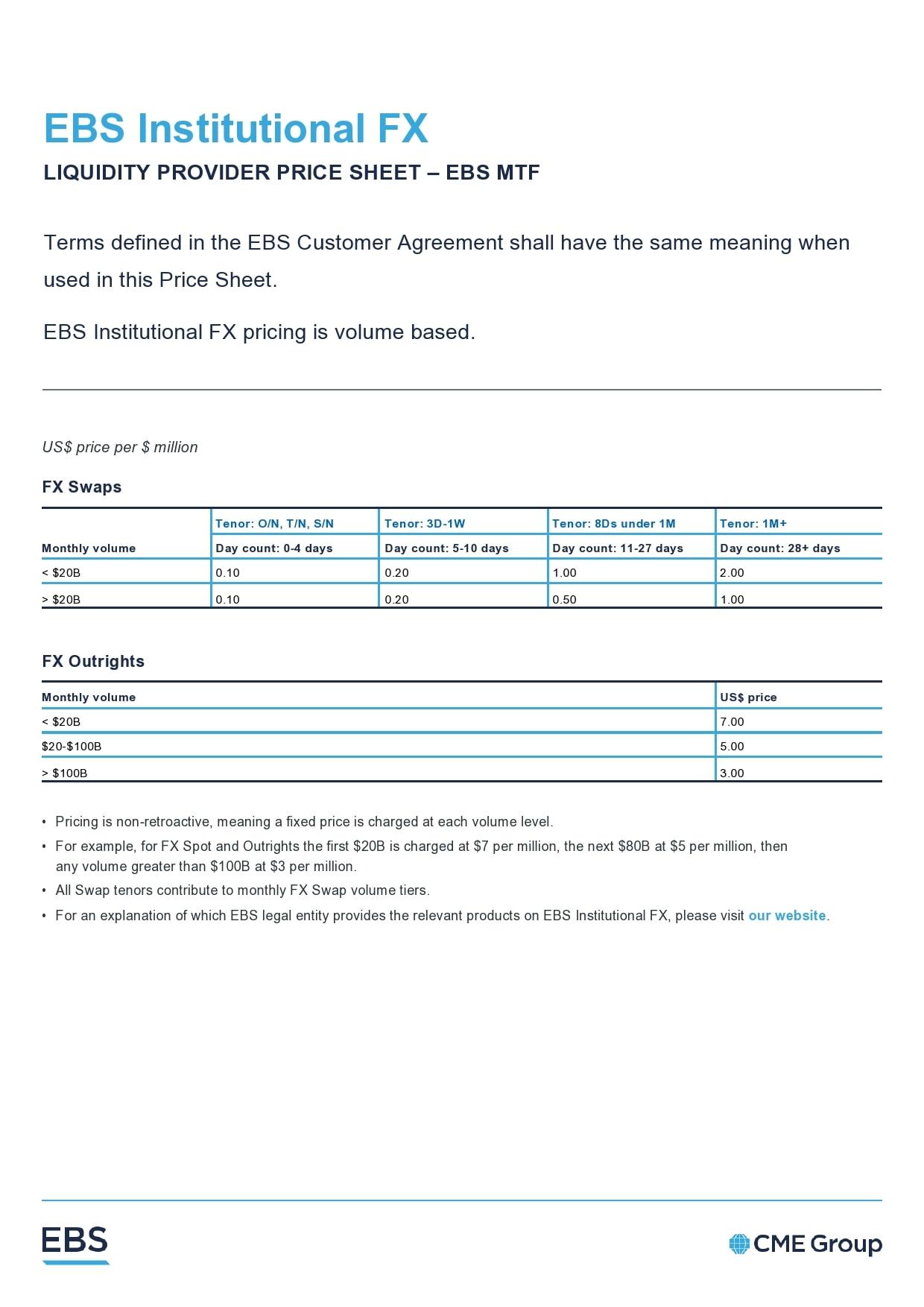 price sheet template 26