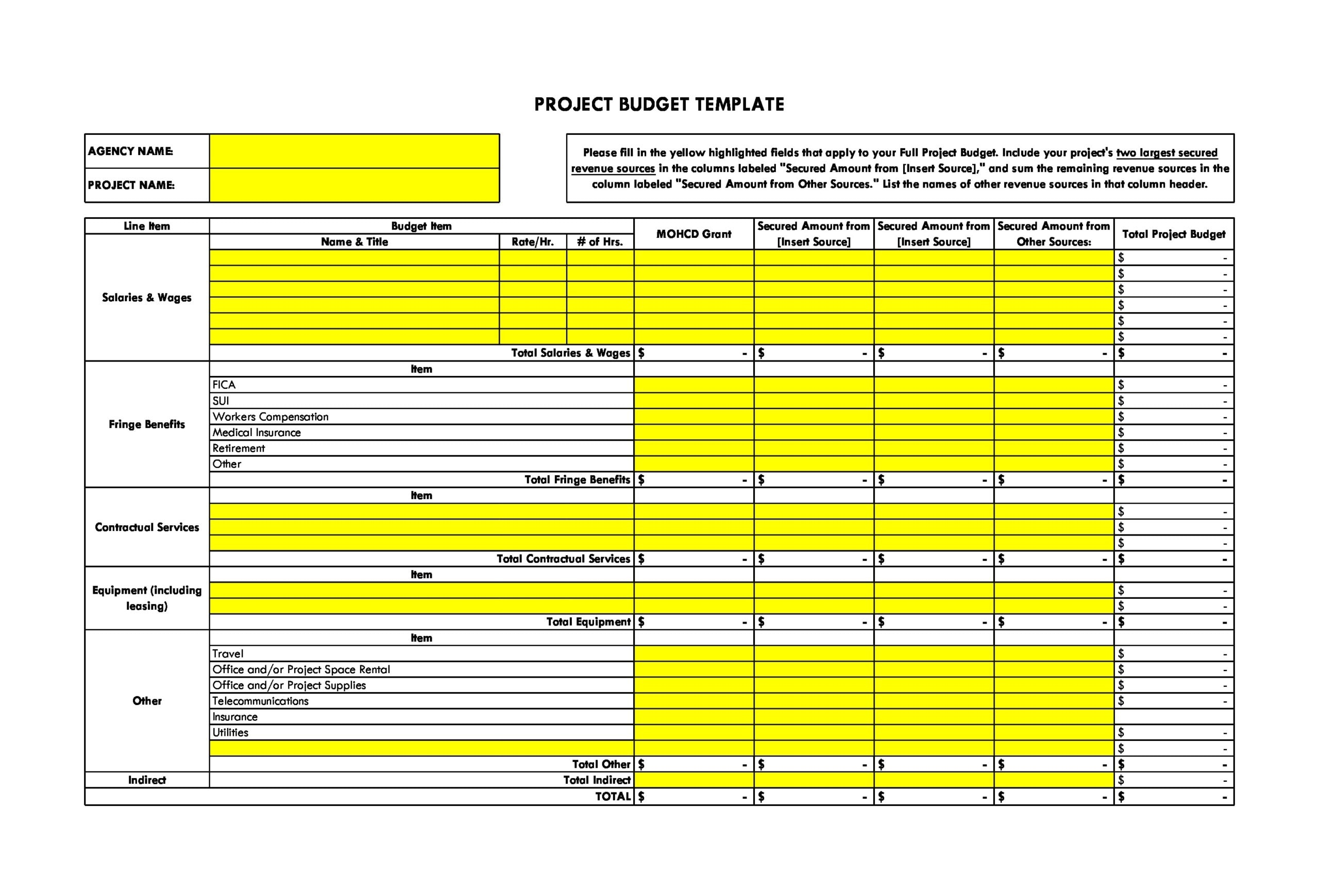 project budget template 01