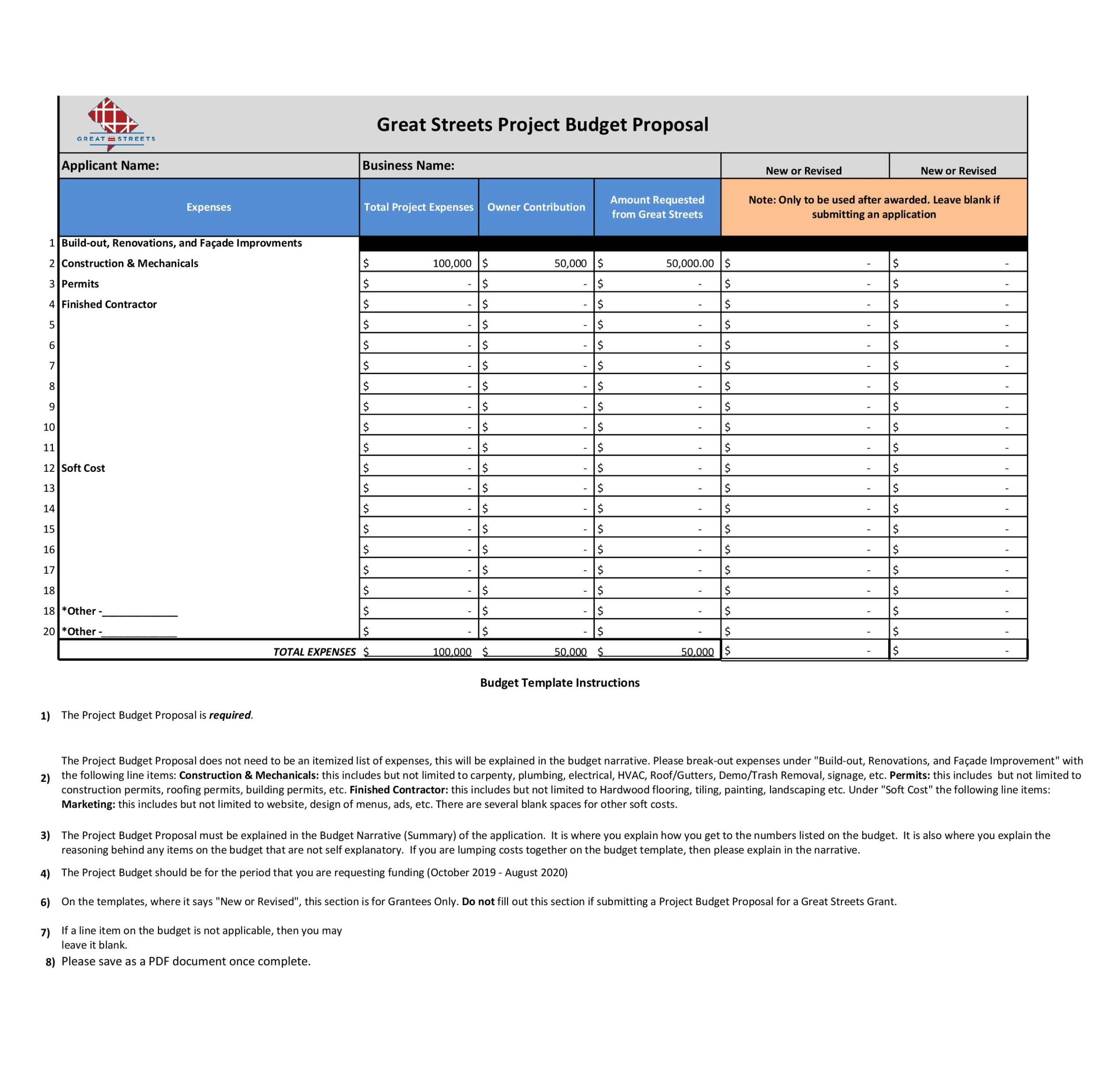 project budget template 22