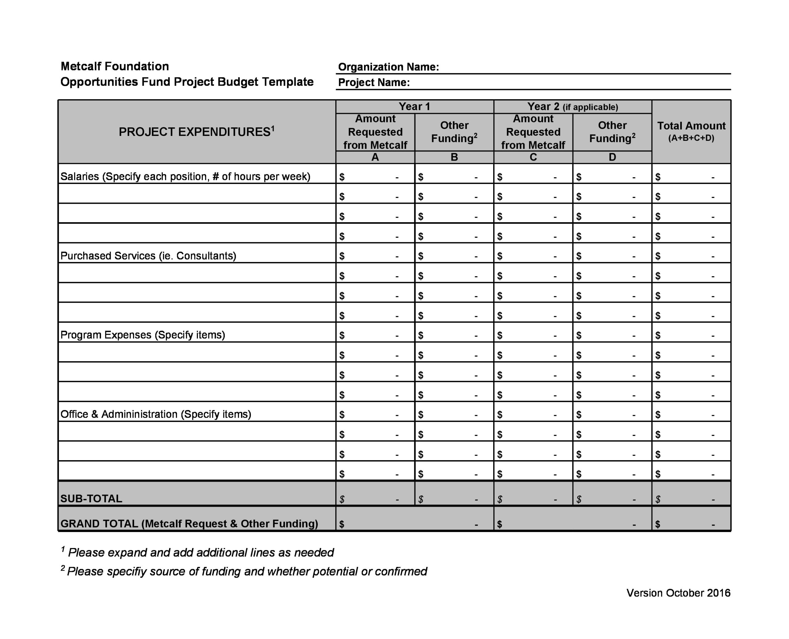 project budget template 23