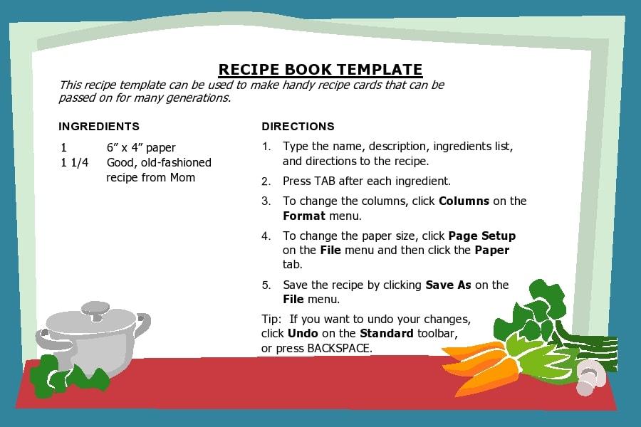 recipe book template 02