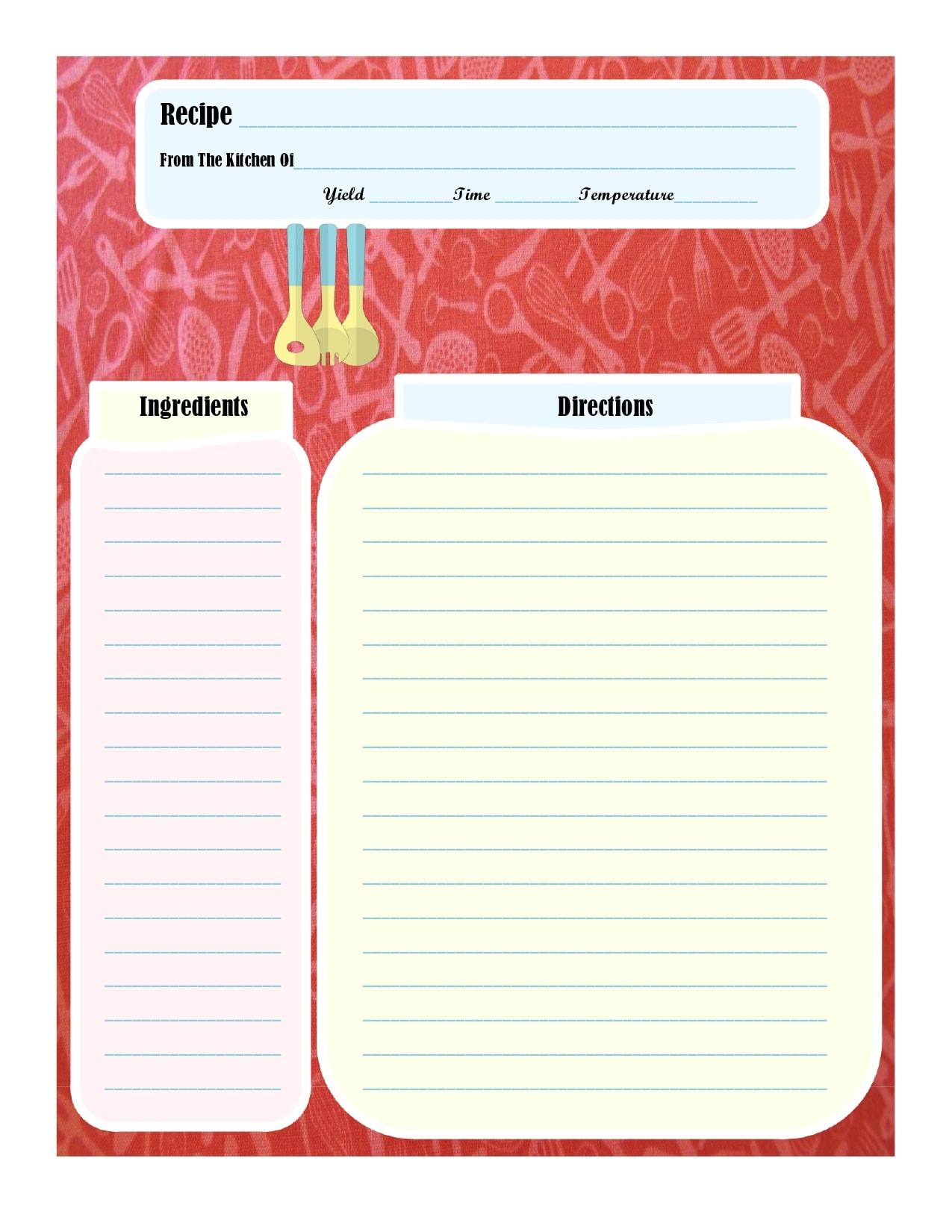 recipe book template 04