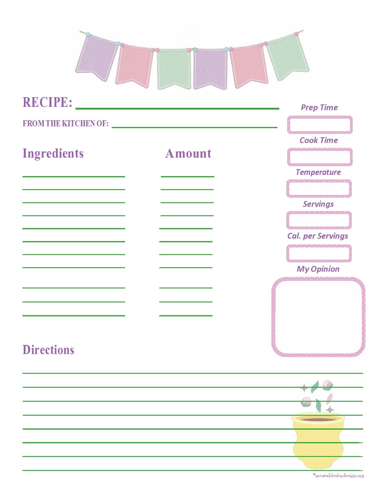recipe book template 05