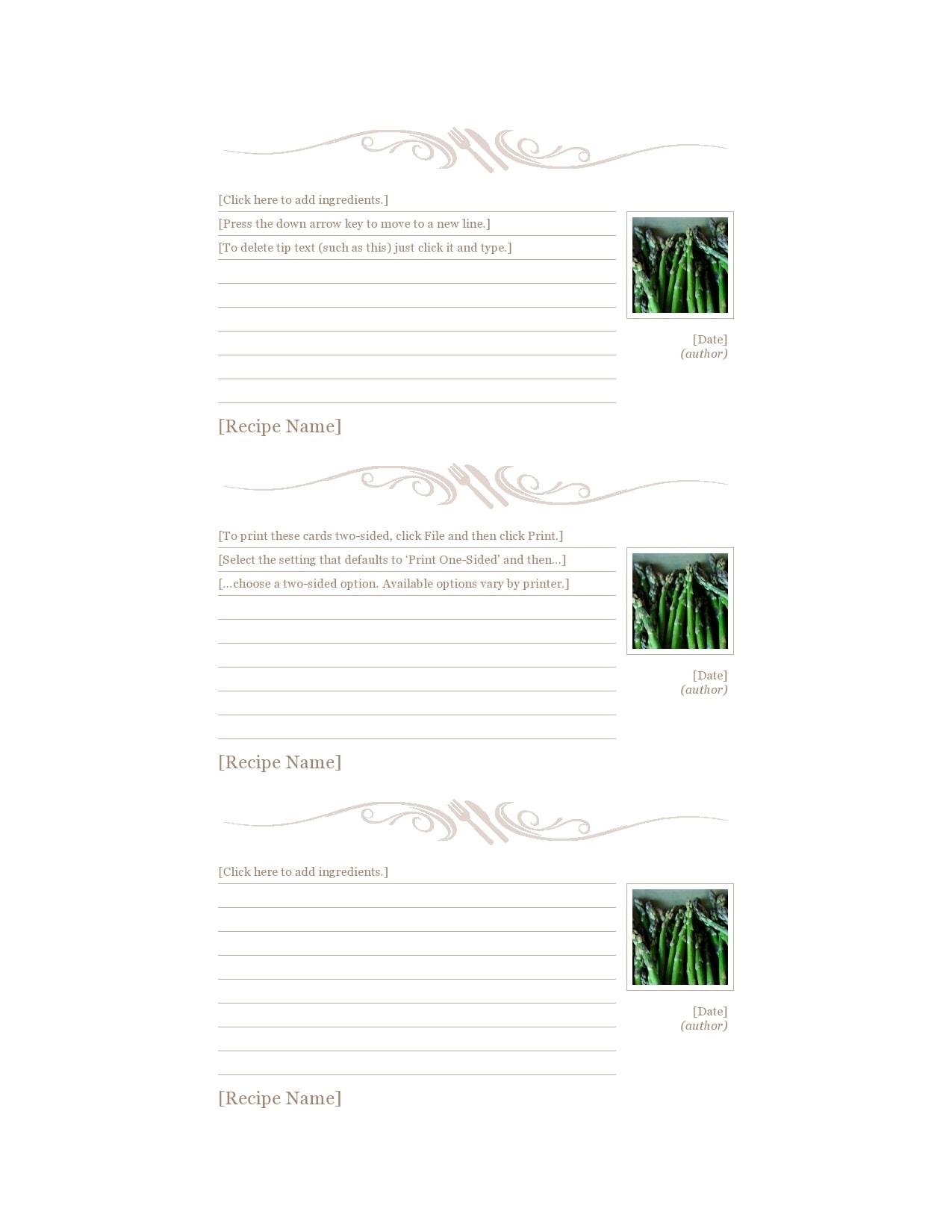 recipe book template 22