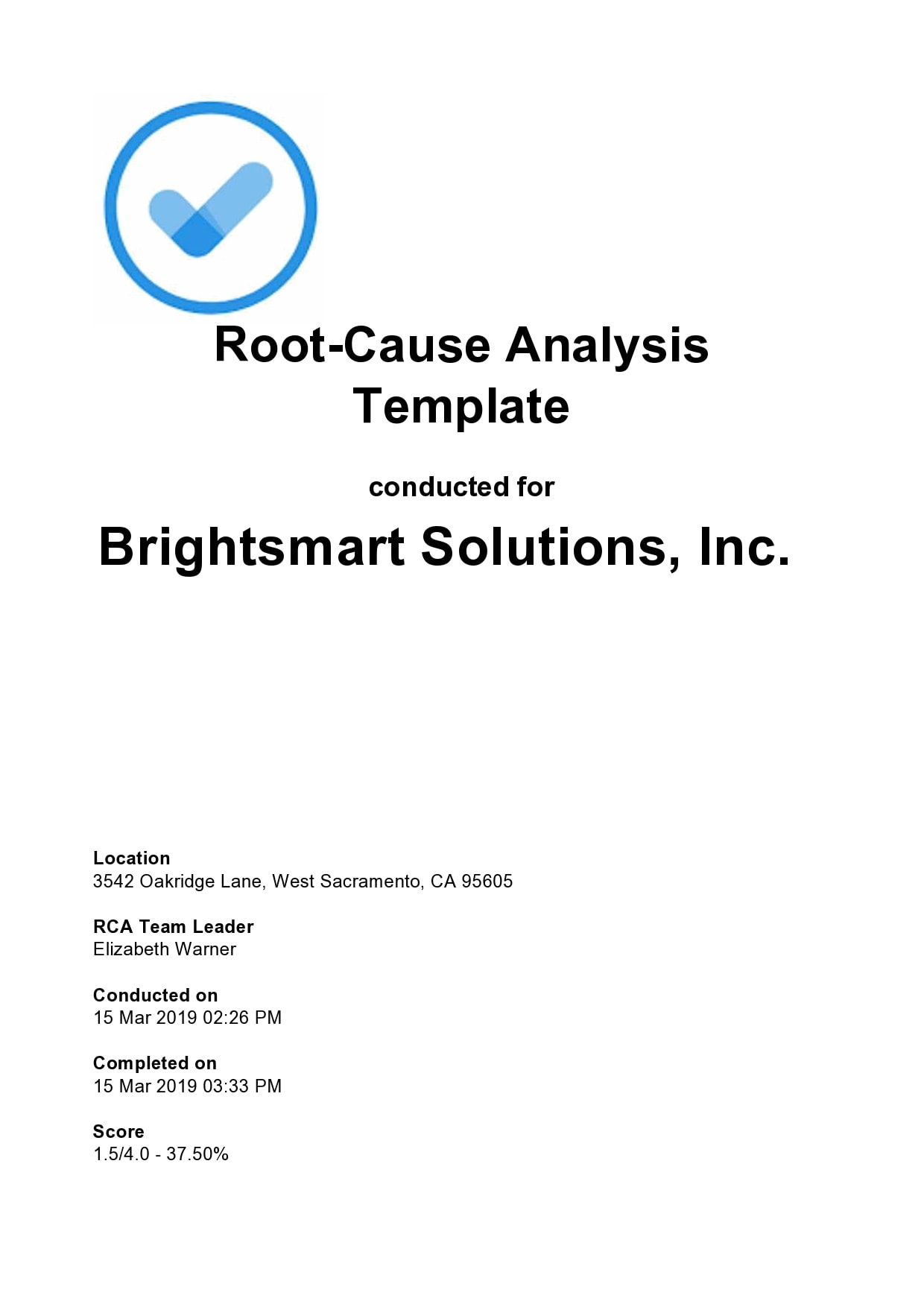 root cause analysis template 15