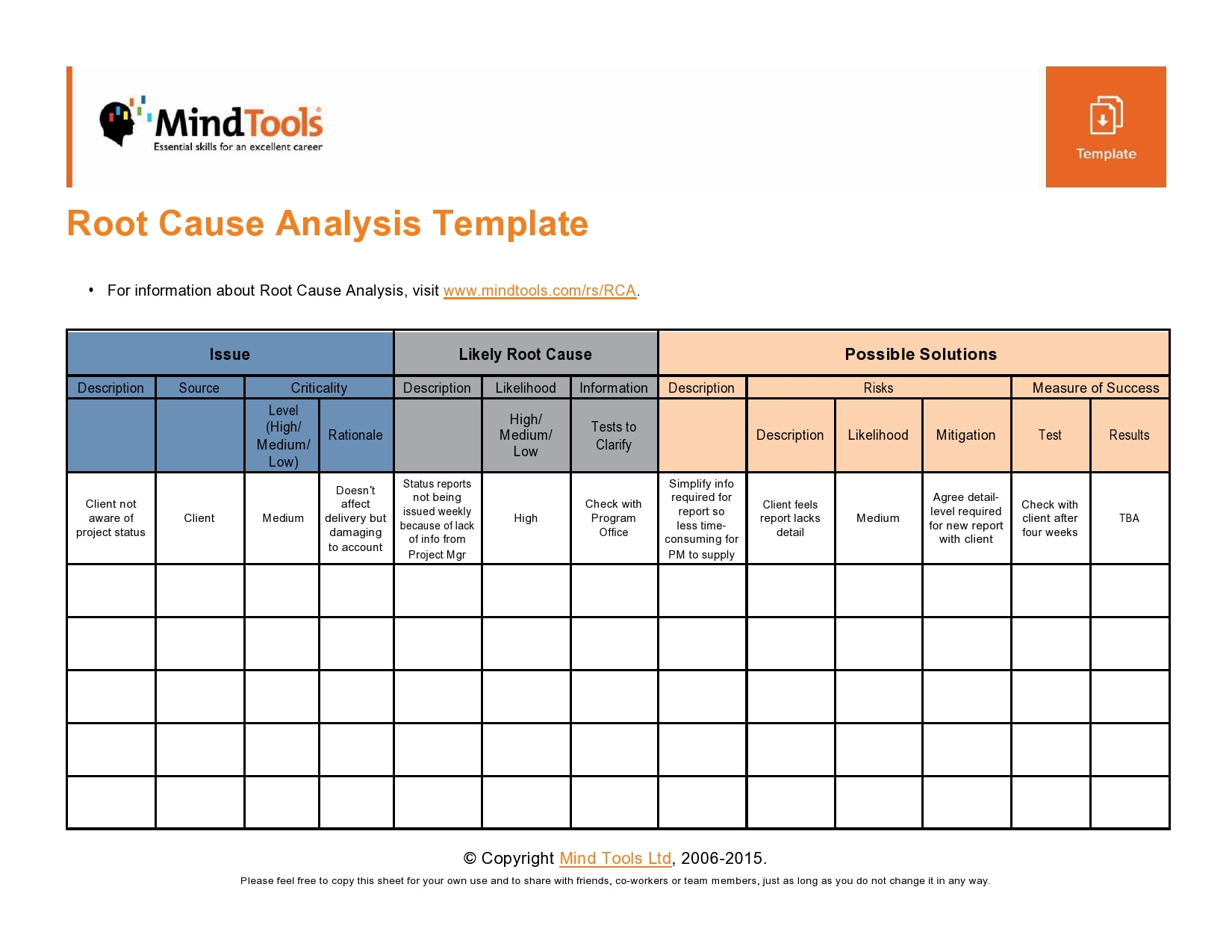 root cause analysis template 17