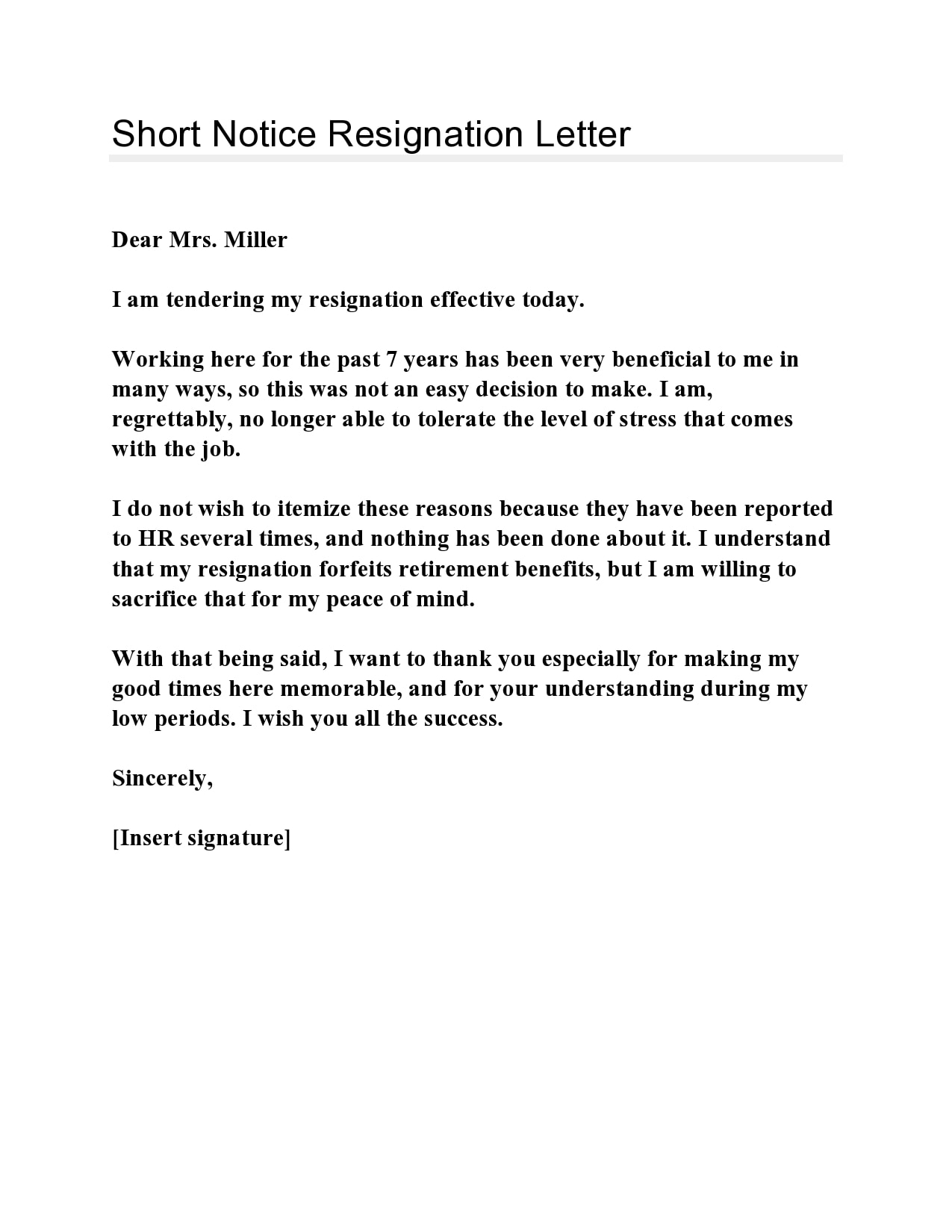 short notice resignation letter 23