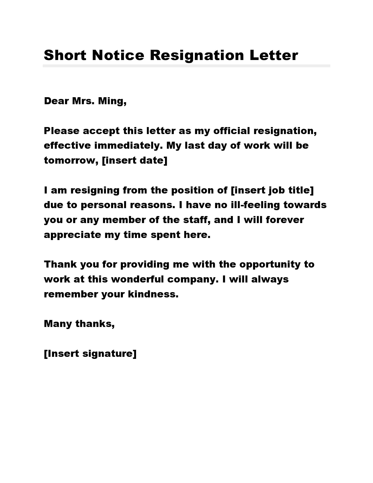 short notice resignation letter 26