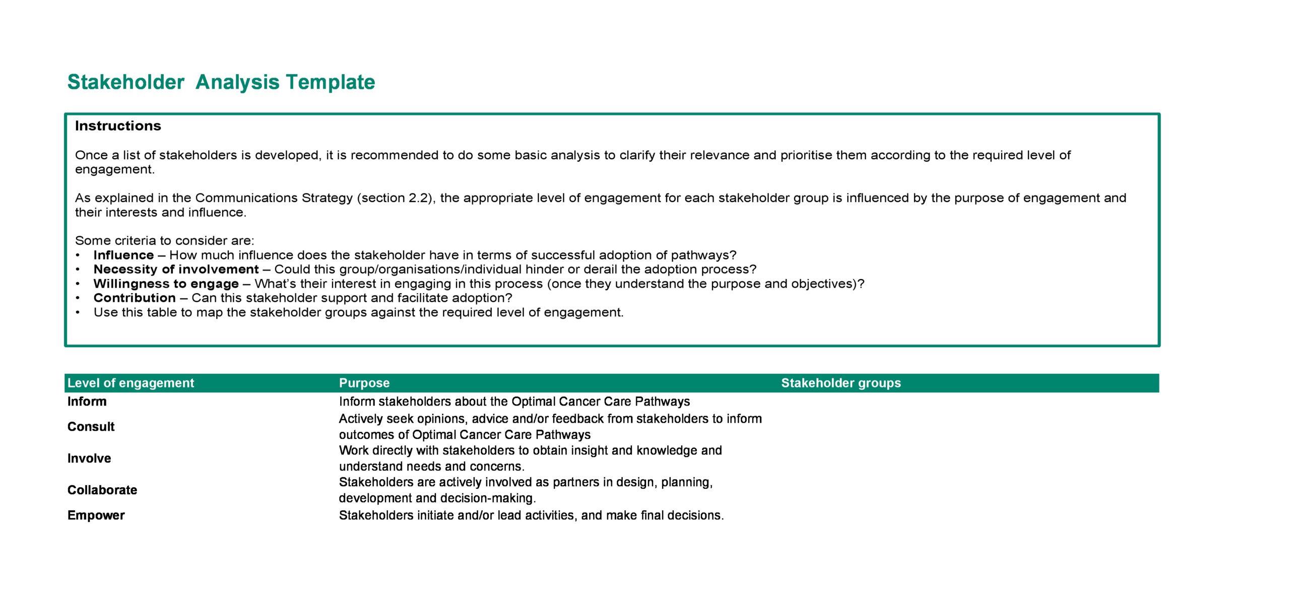 stakeholder analysis template 09