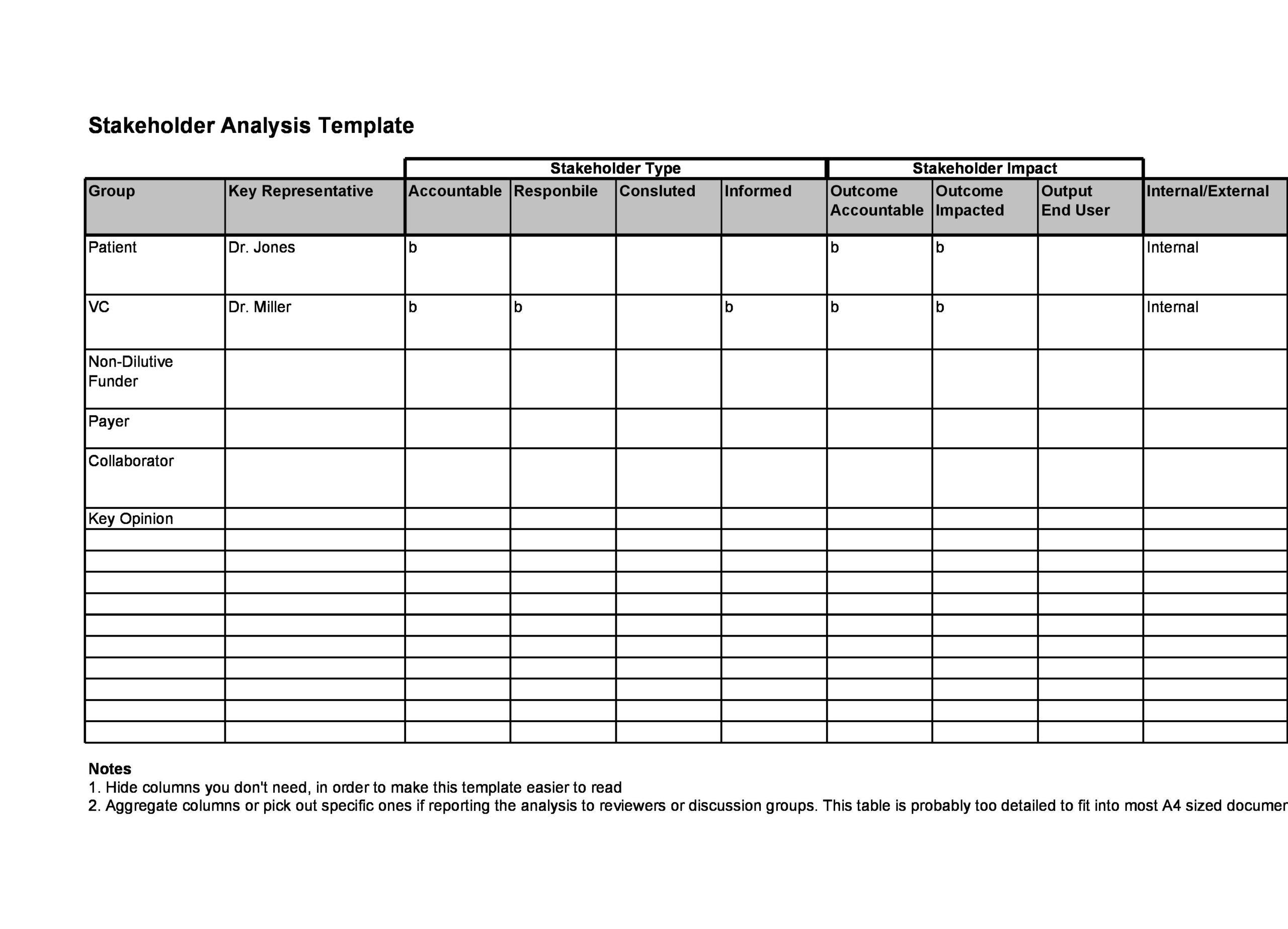 stakeholder analysis template 11