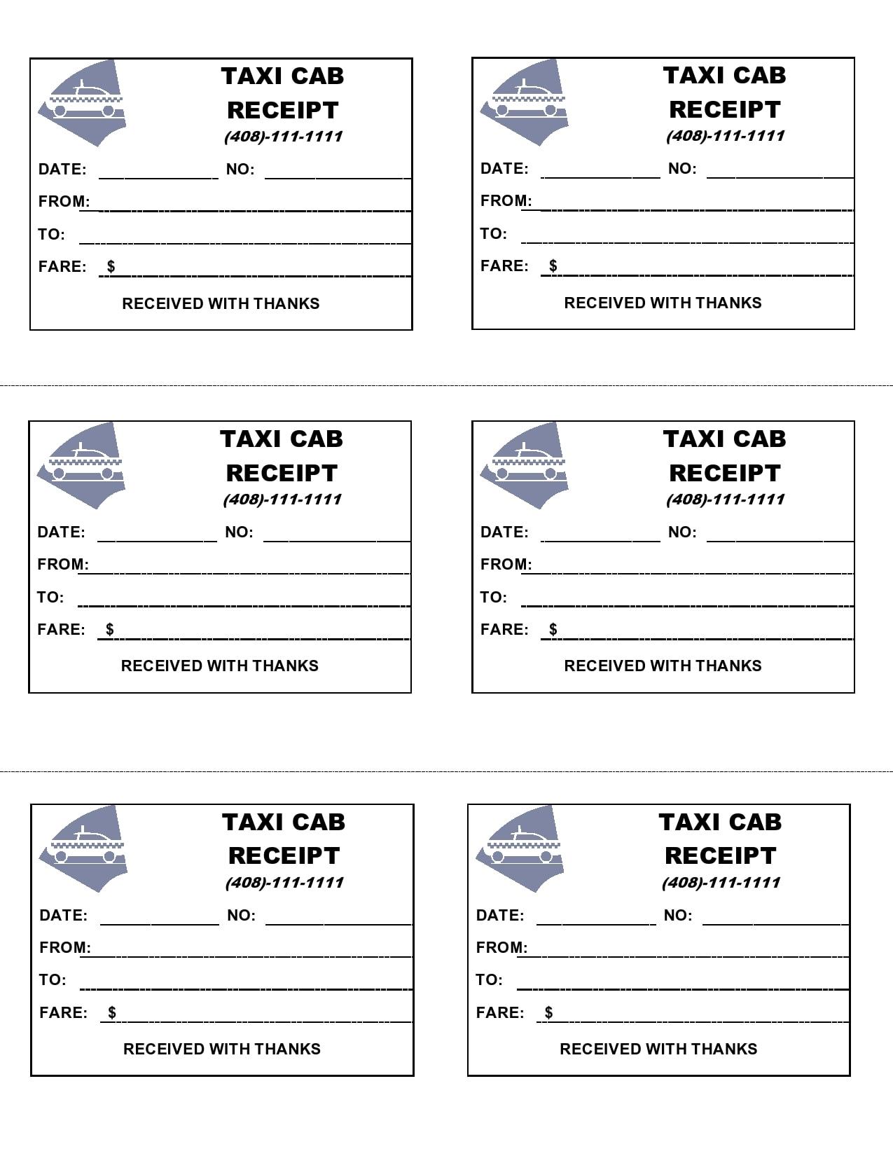 taxi receipt 06