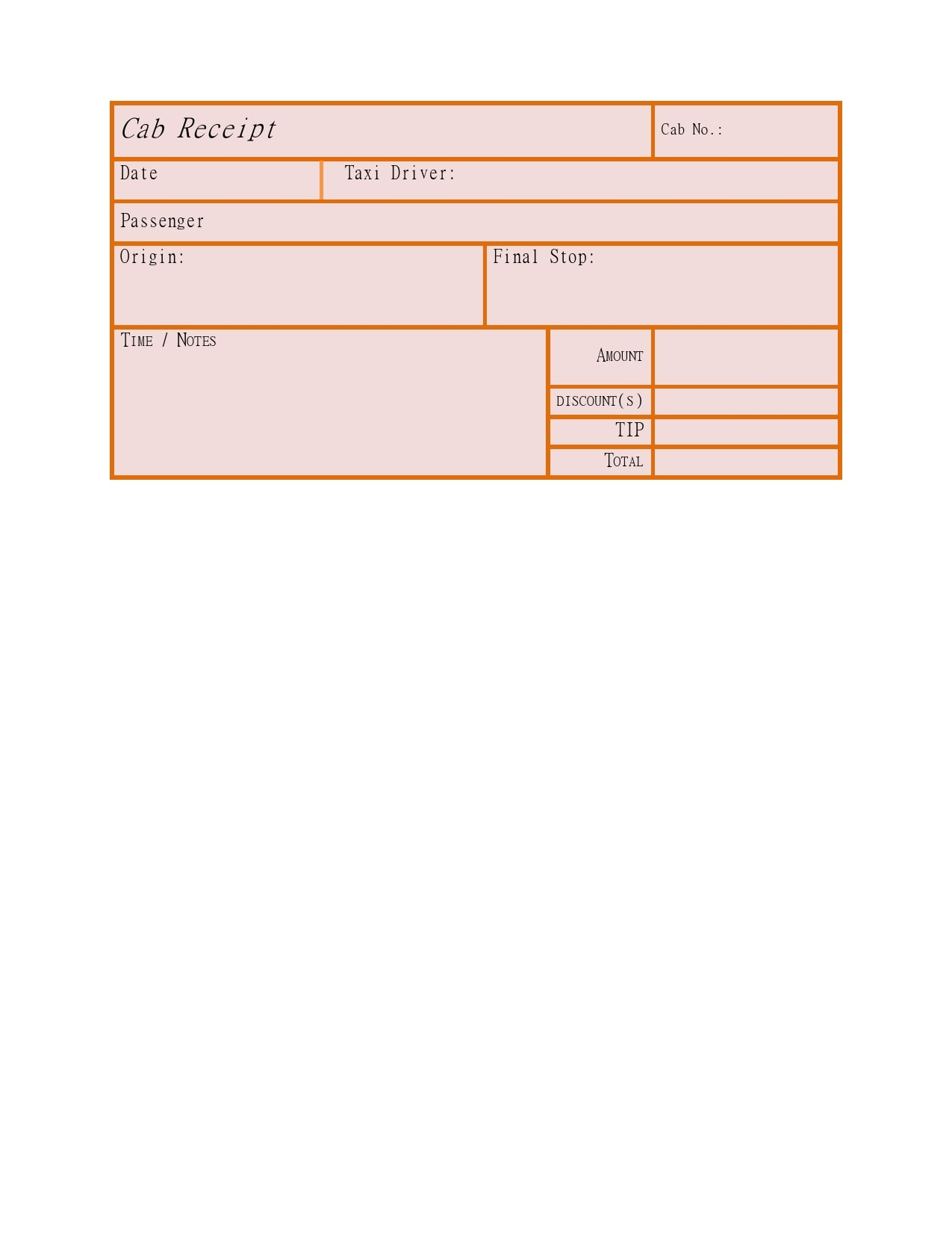 taxi receipt 10
