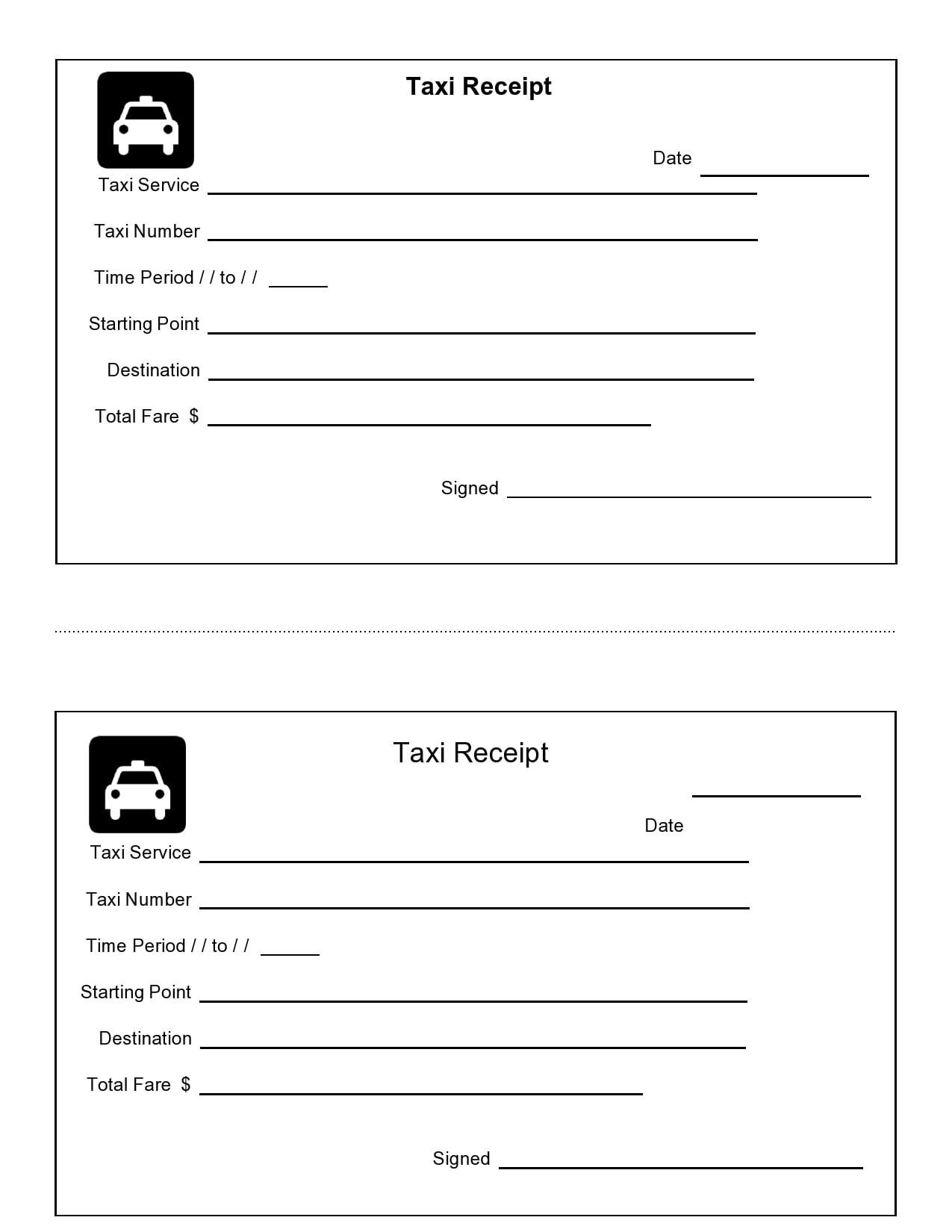 taxi receipt 11