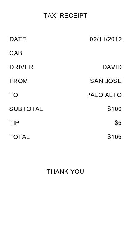 taxi receipt 23