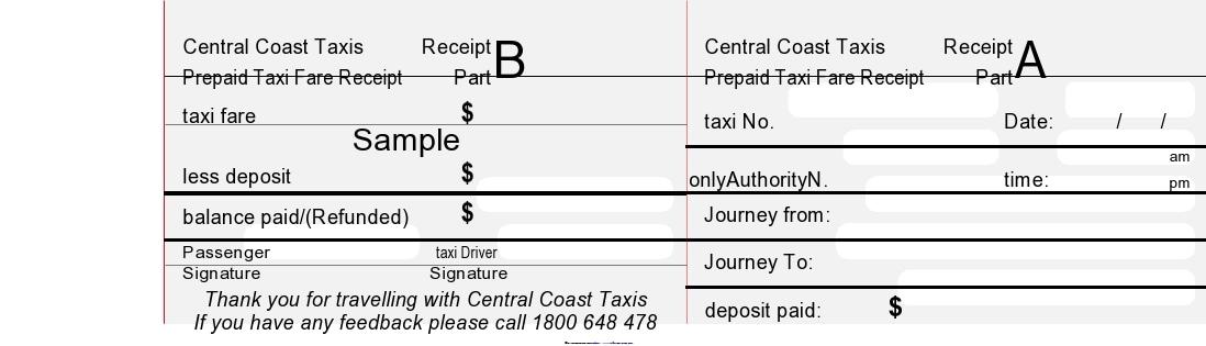 taxi receipt 24