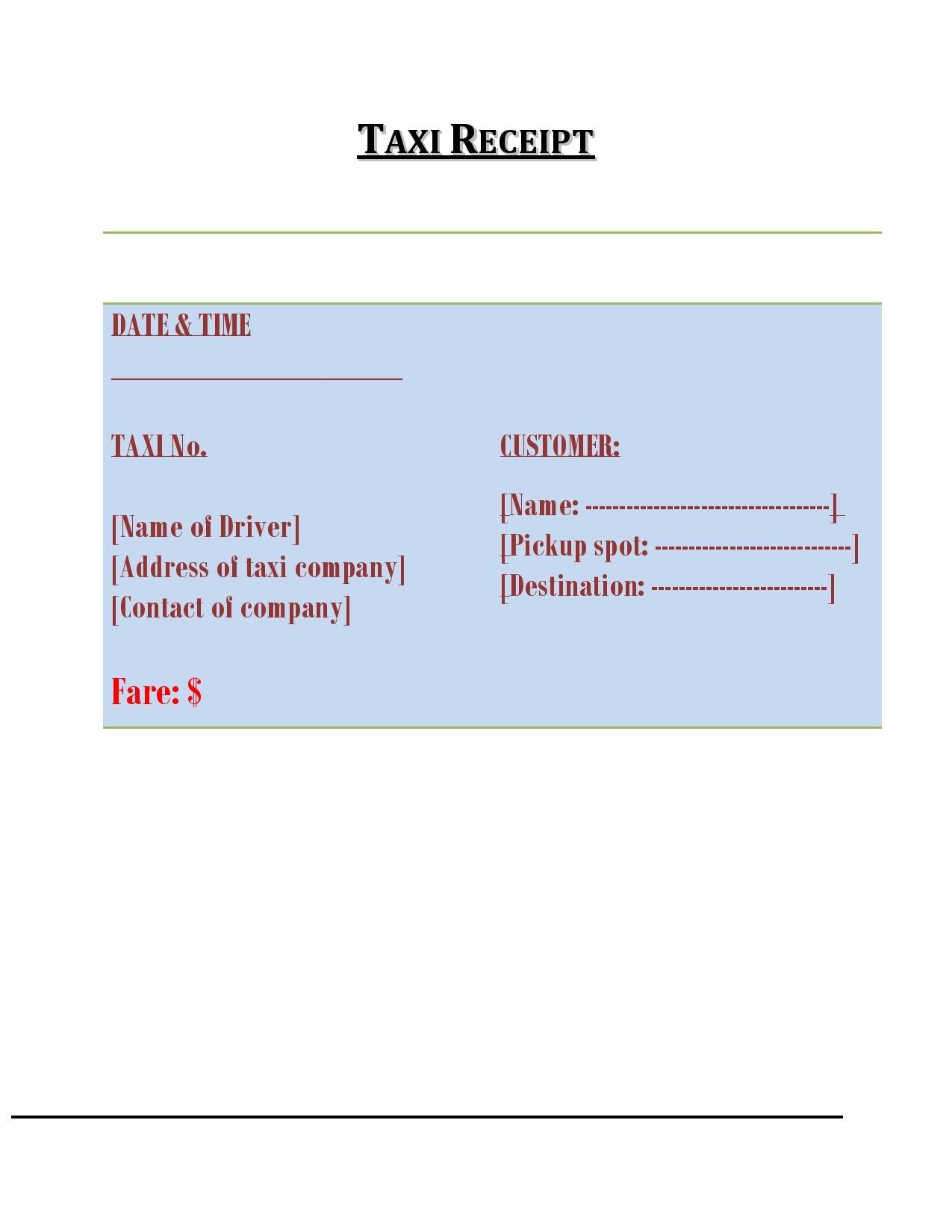 taxi receipt 29
