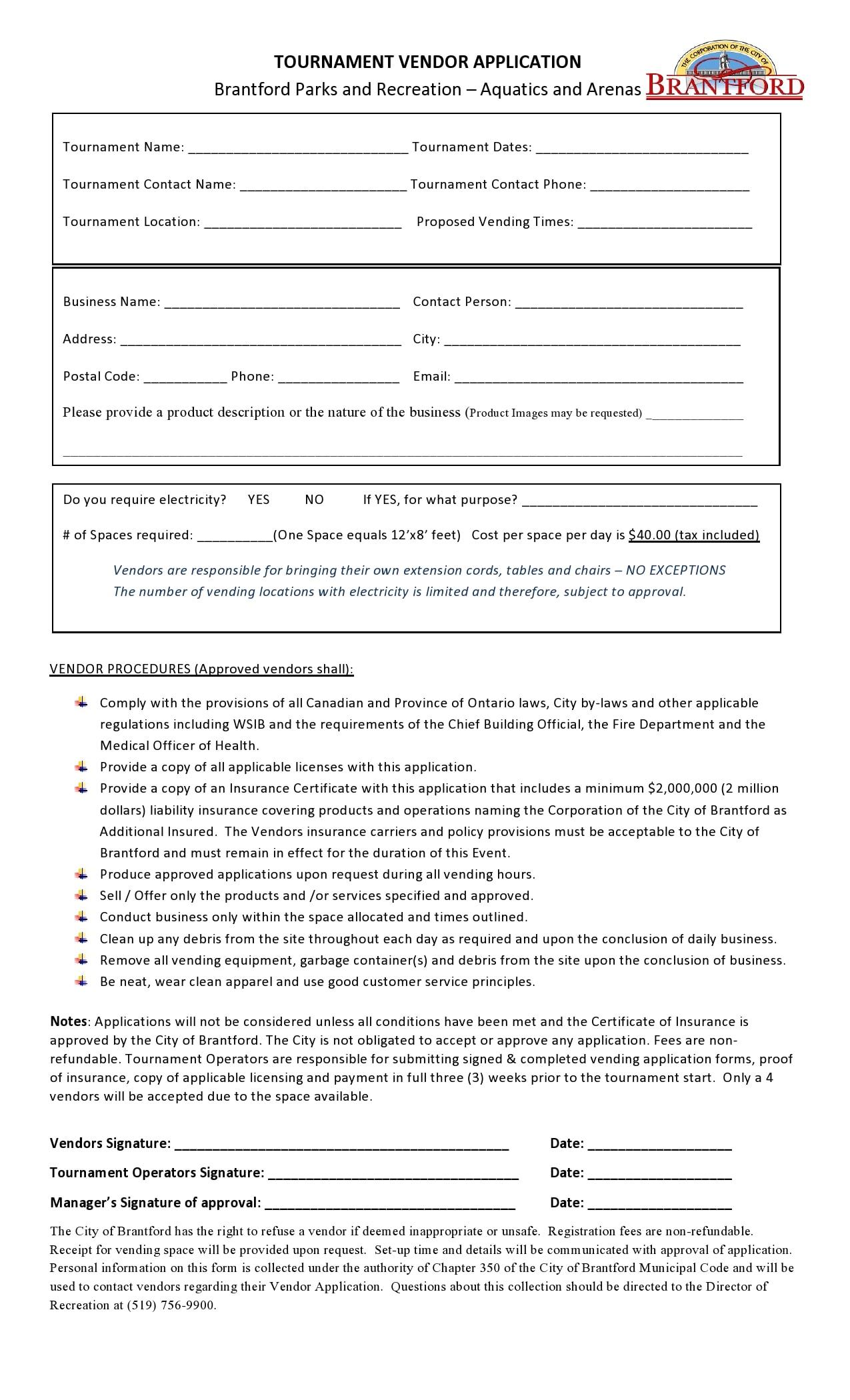 vendor application form 09