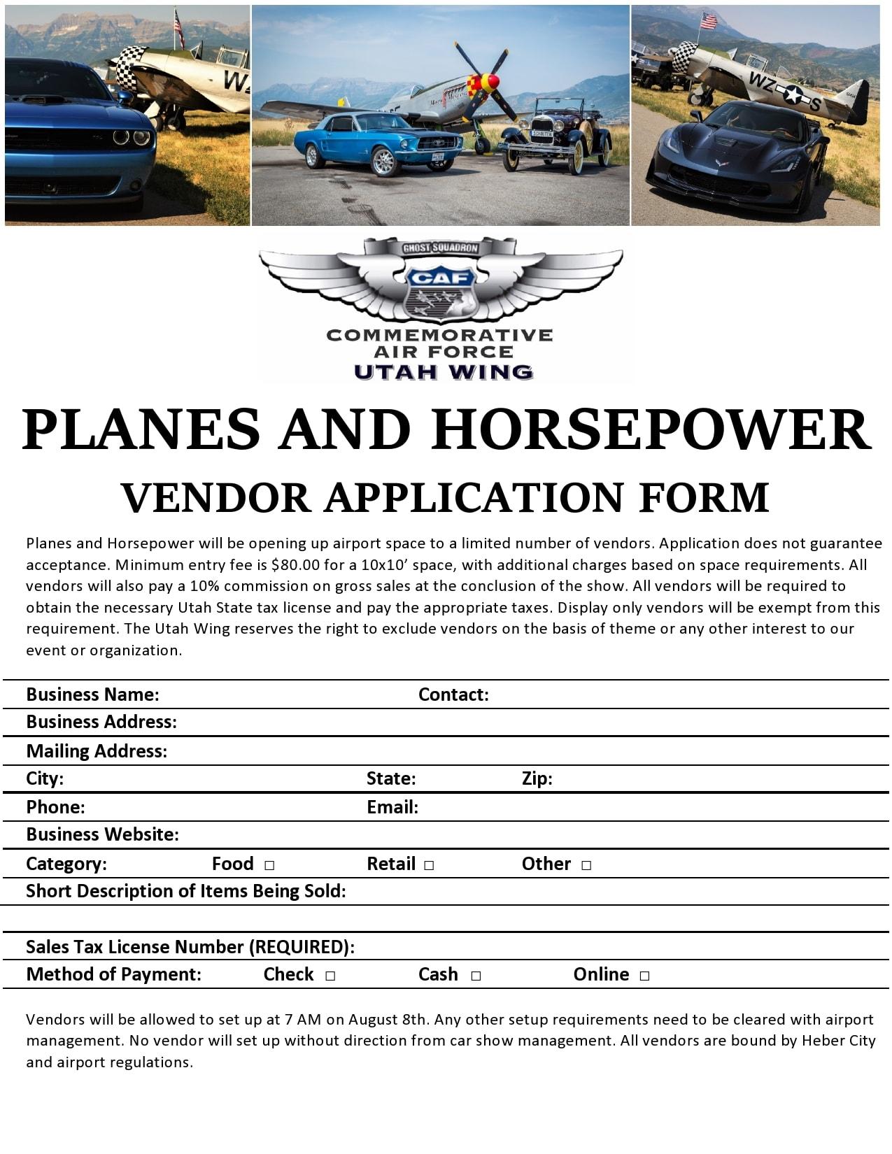 vendor application form 10