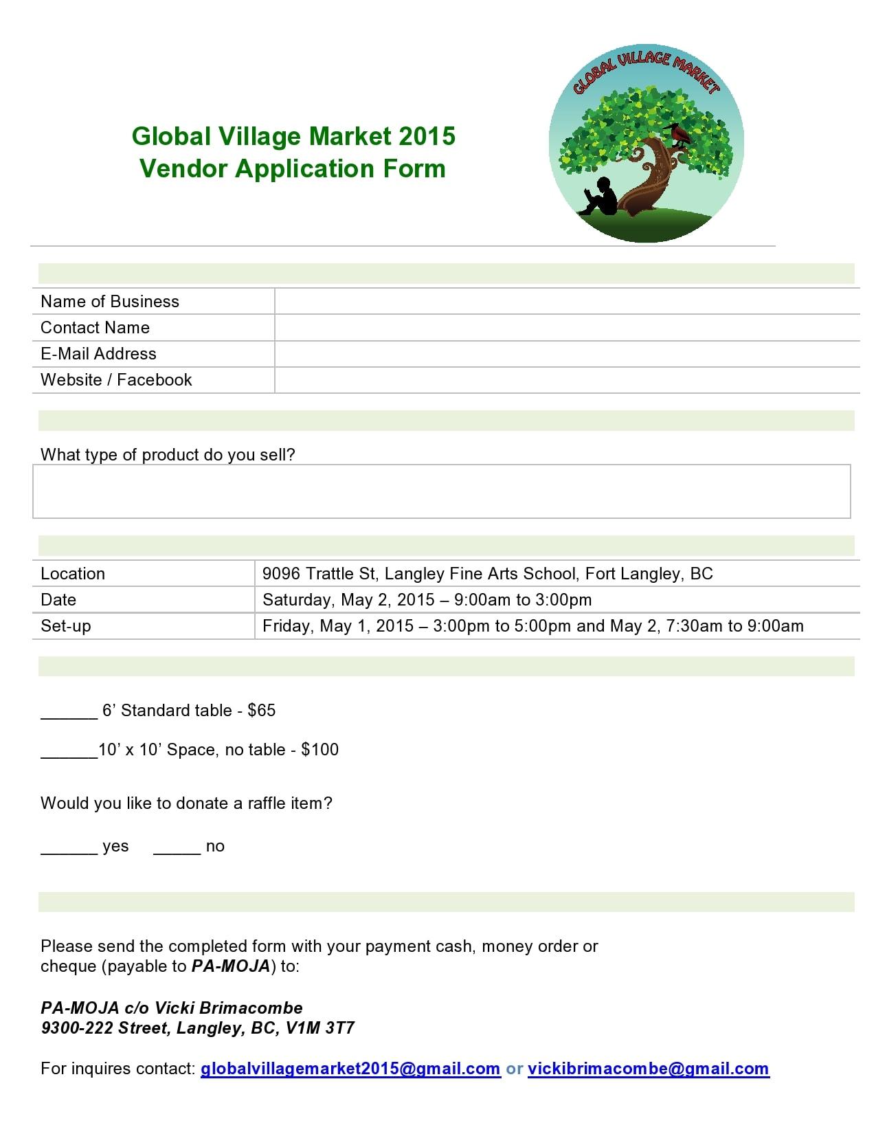 vendor application form 12