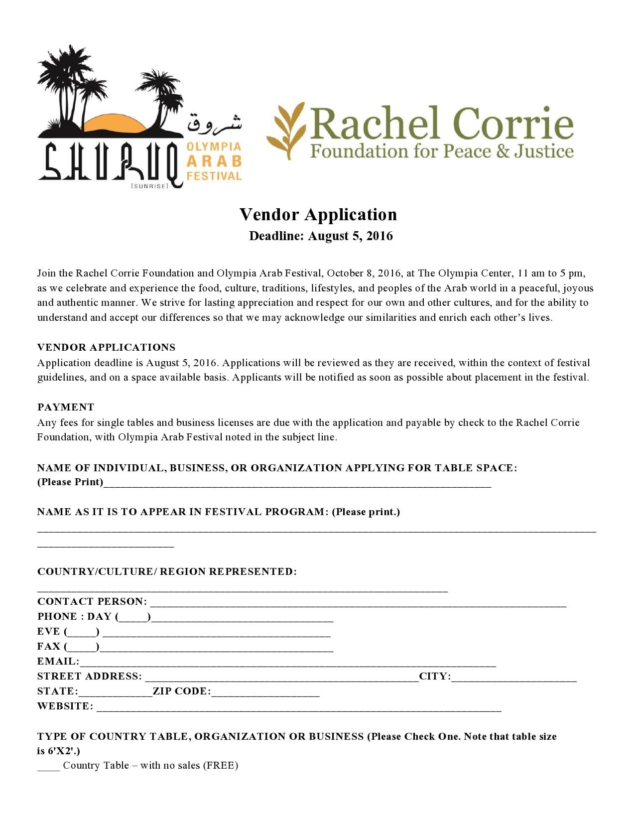vendor application form 13
