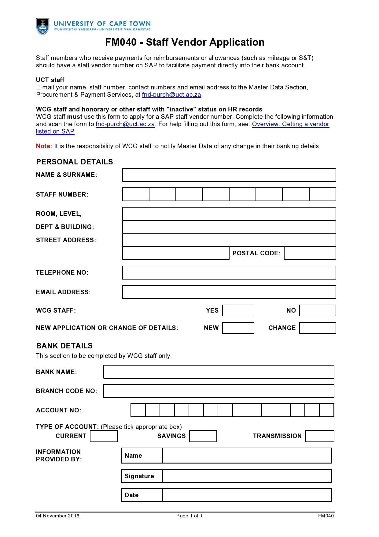 vendor application form 17