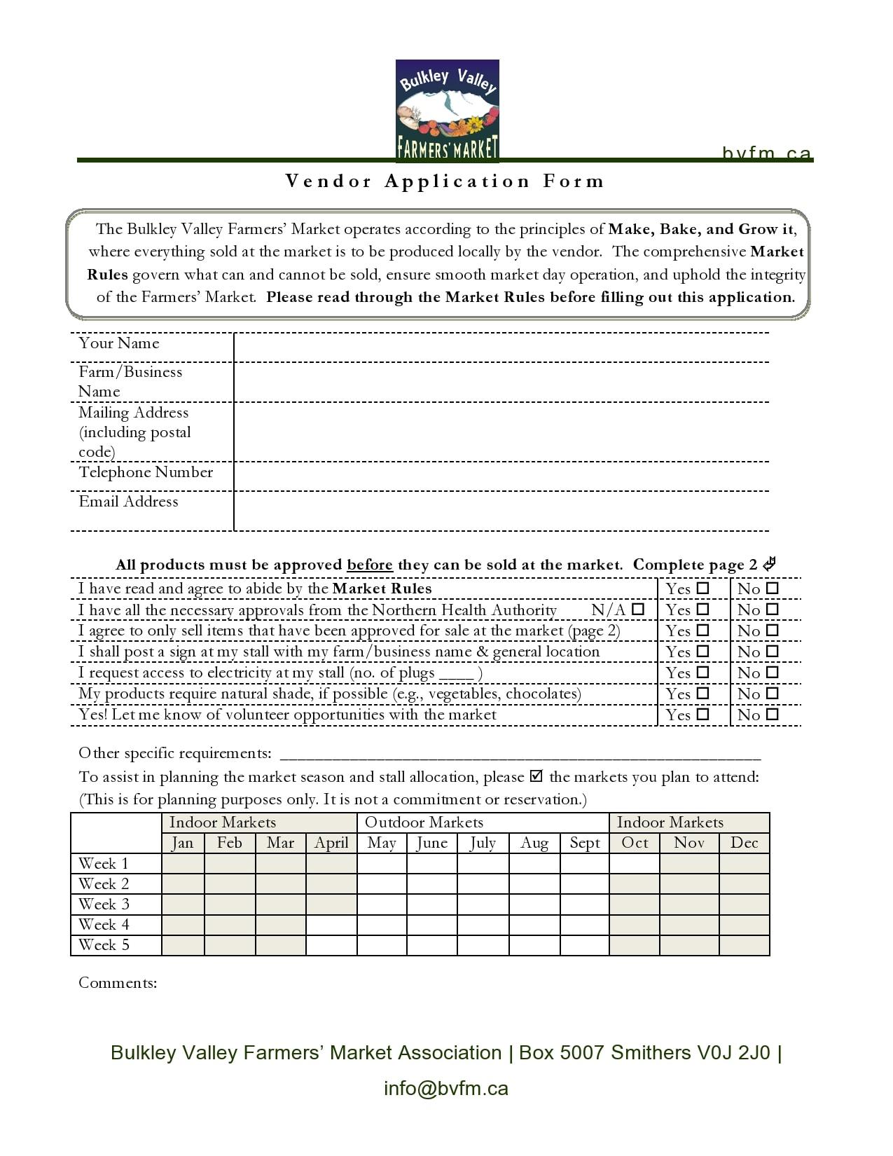 vendor application form 21