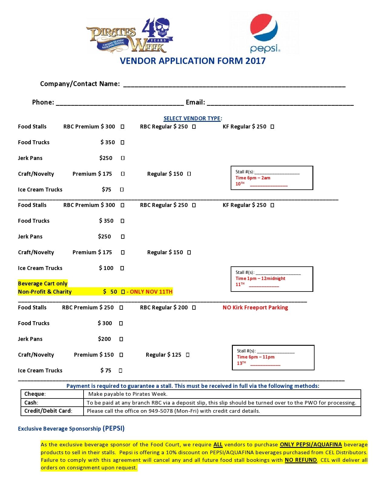 vendor application form 28