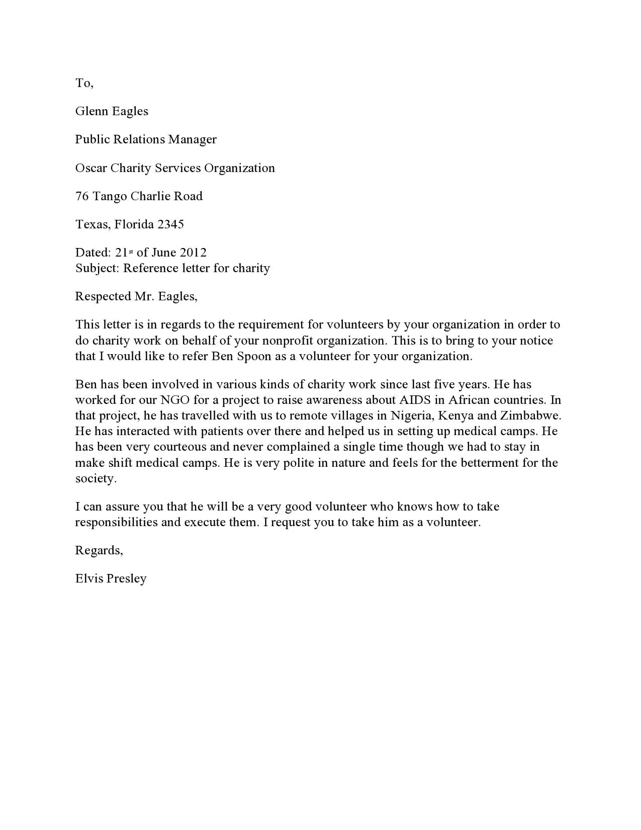 volunteers letter 14