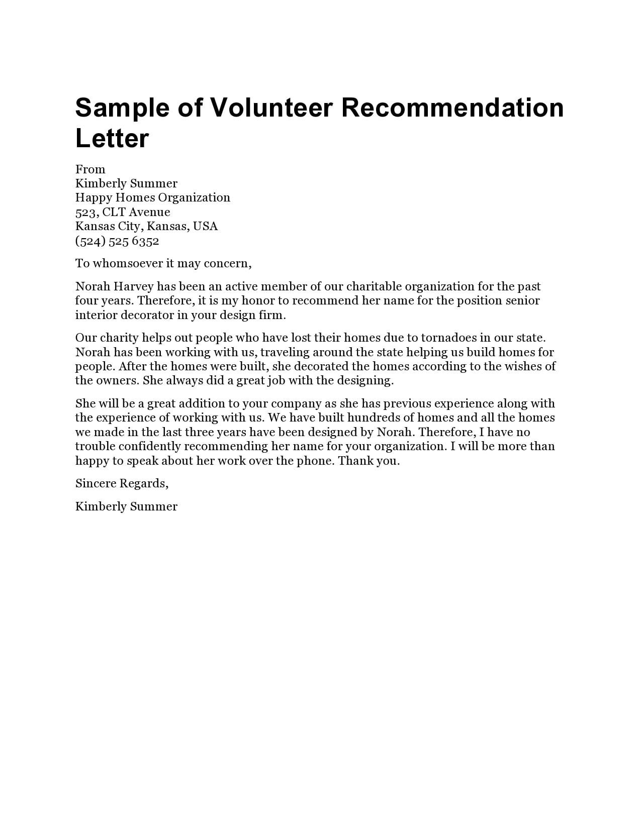 volunteers letter 22