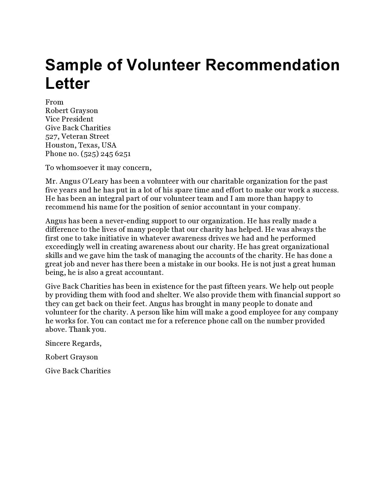 volunteers letter 23