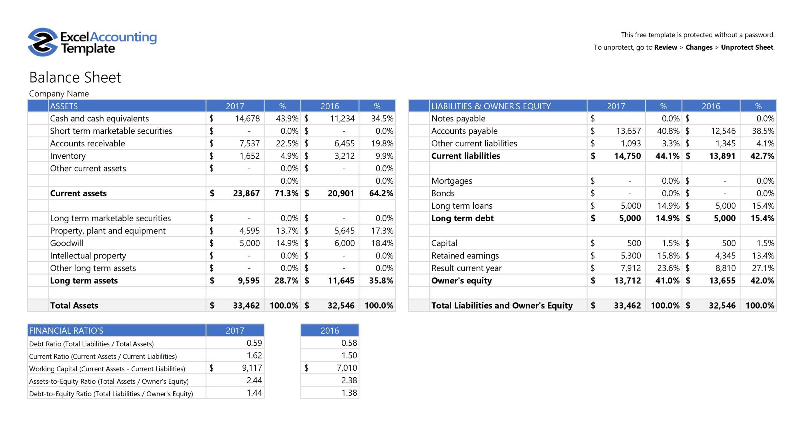 balance sheet template 01