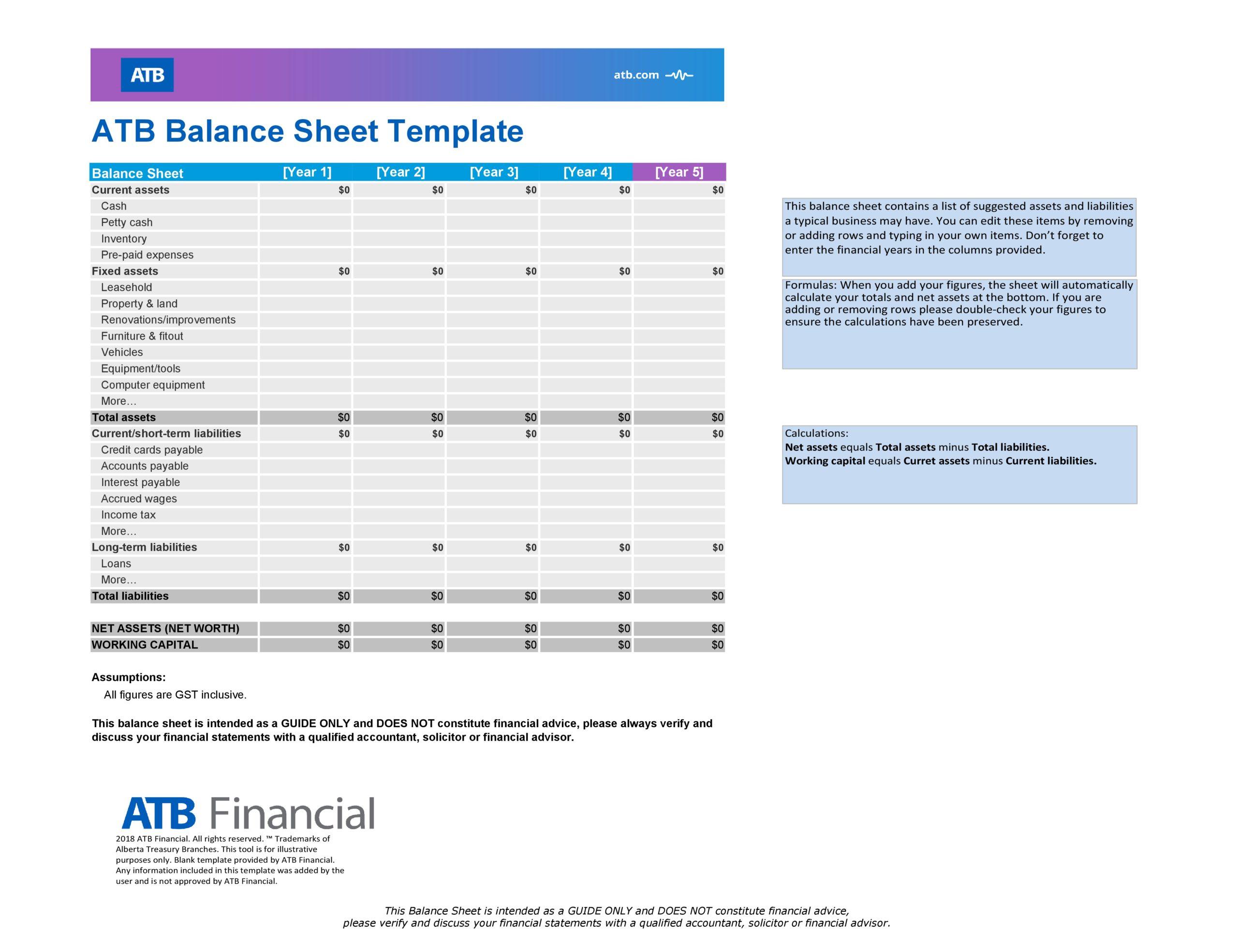 balance sheet template 11