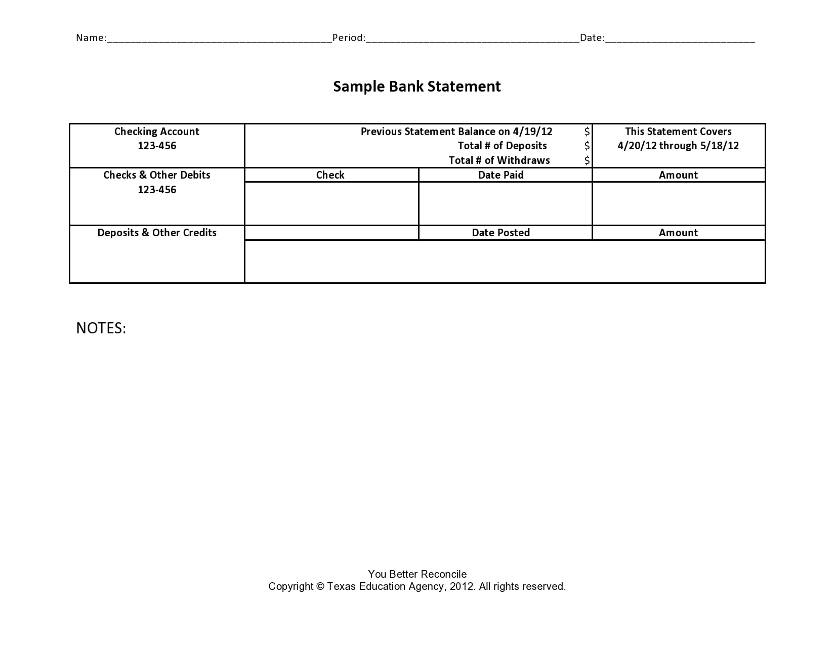 bank statement template 28