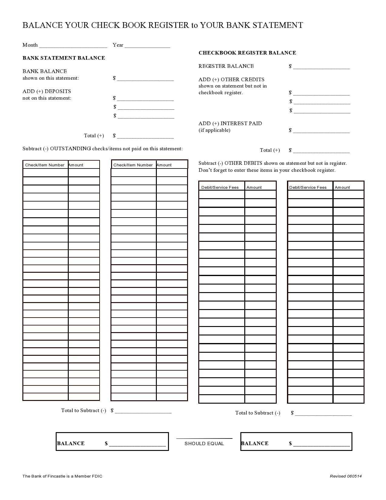 check register template 25