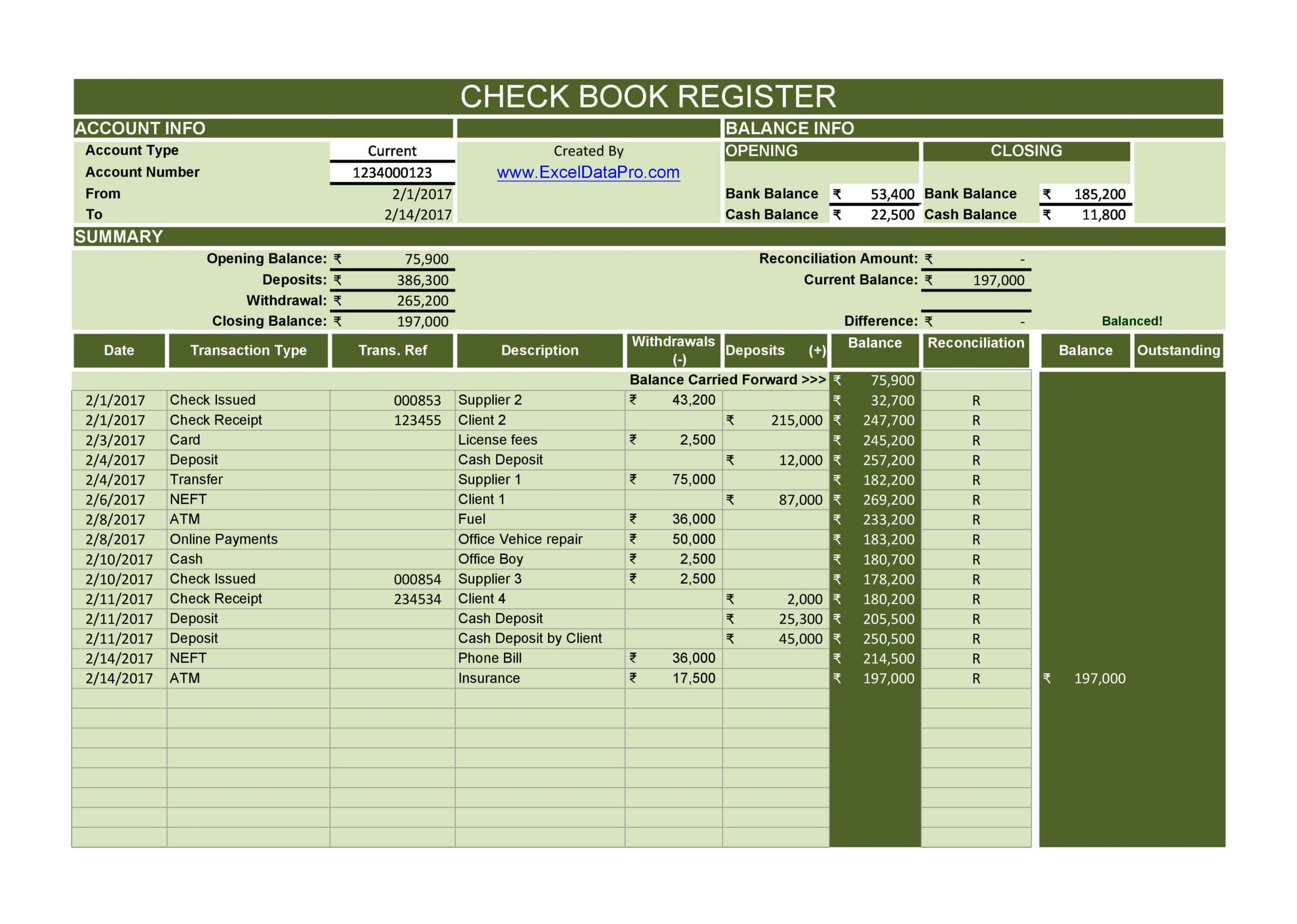 check register template 29