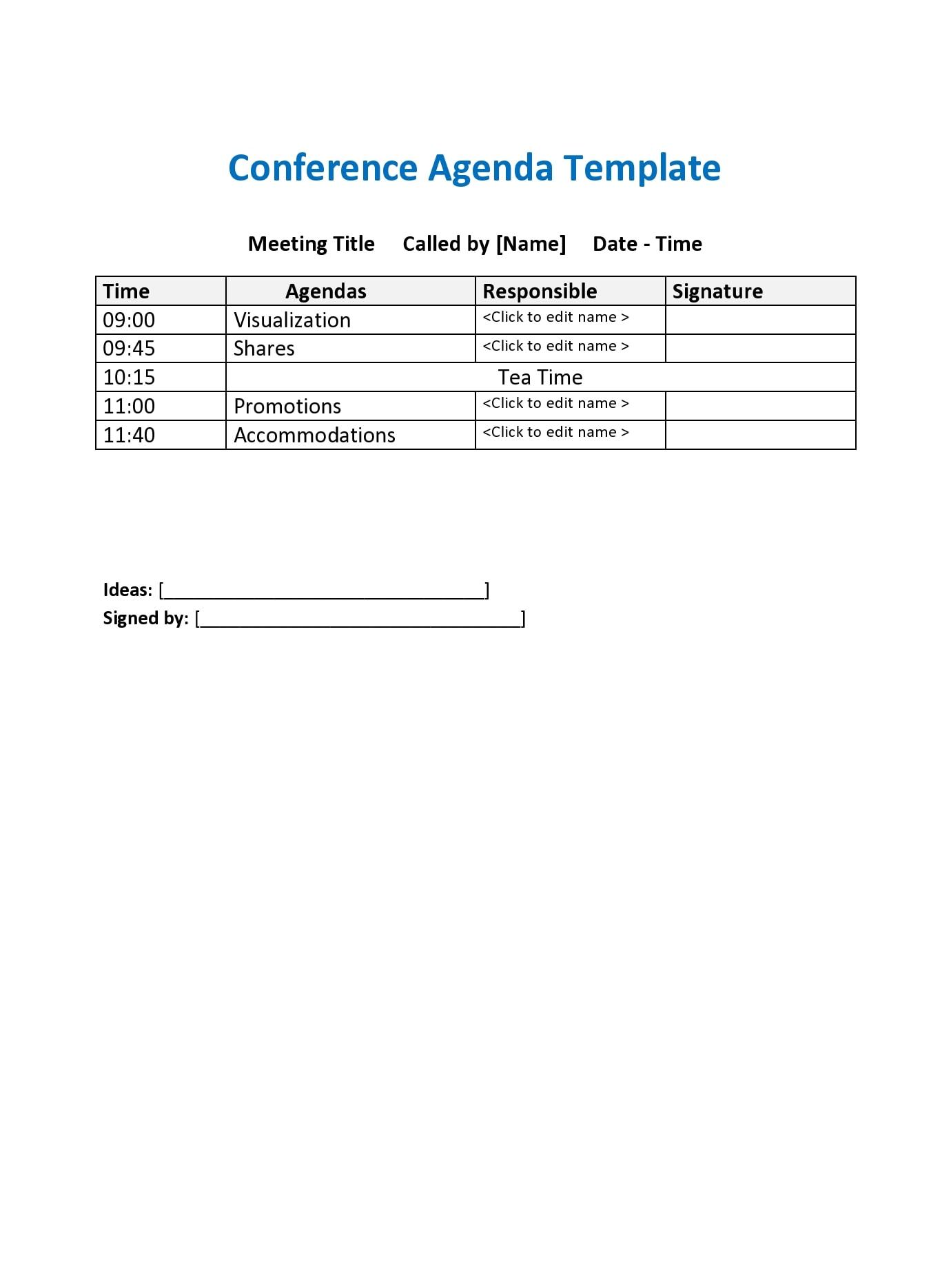 conference agenda template 05