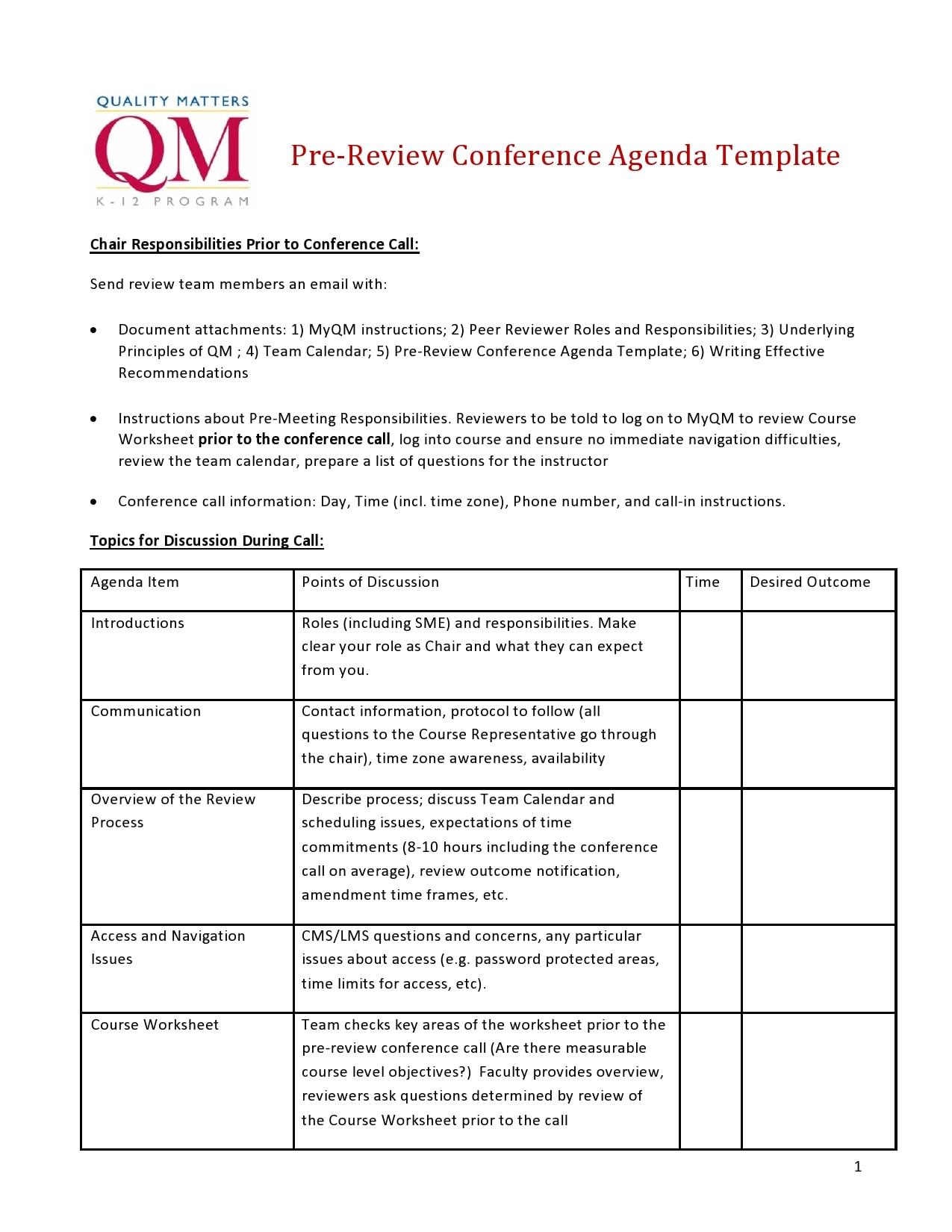 conference agenda template 10