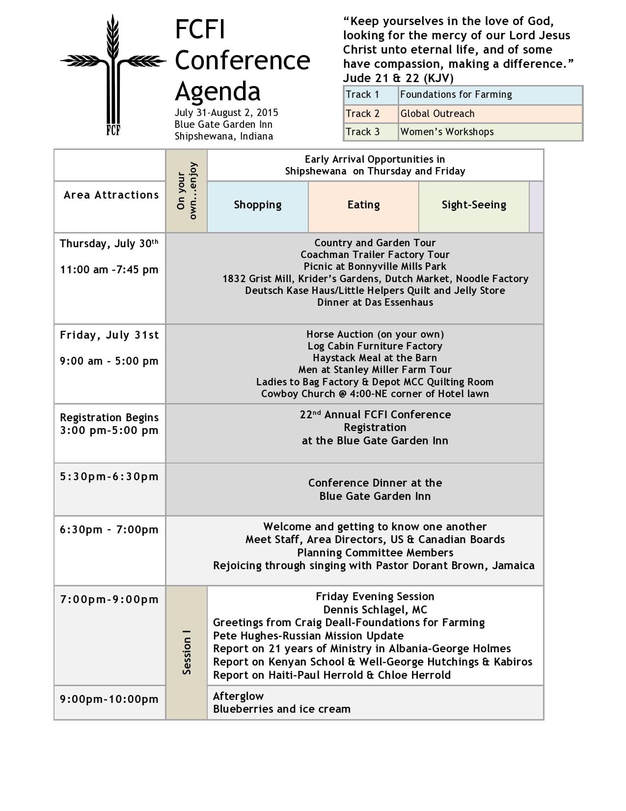conference agenda template 20