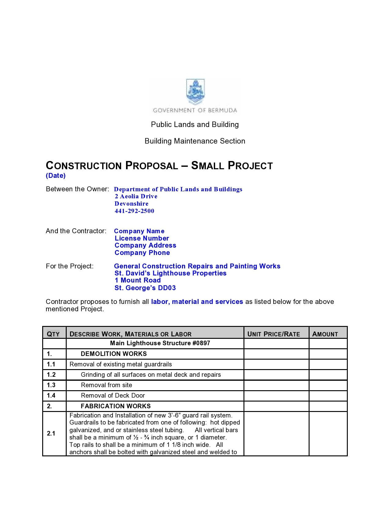 construction proposal template 16