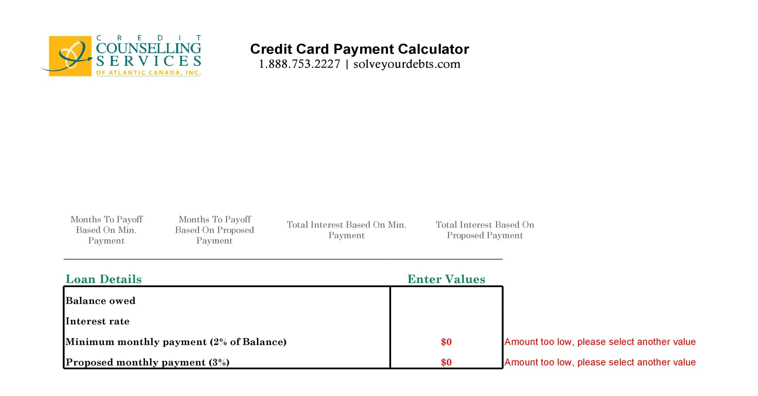 credit card payoff spreadsheet 14