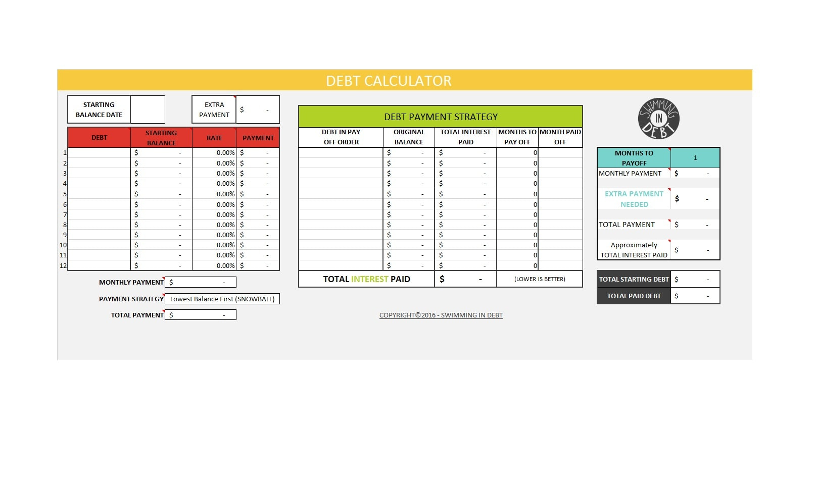 30 Credit Card Payoff Spreadsheets Excel   TemplateArchive