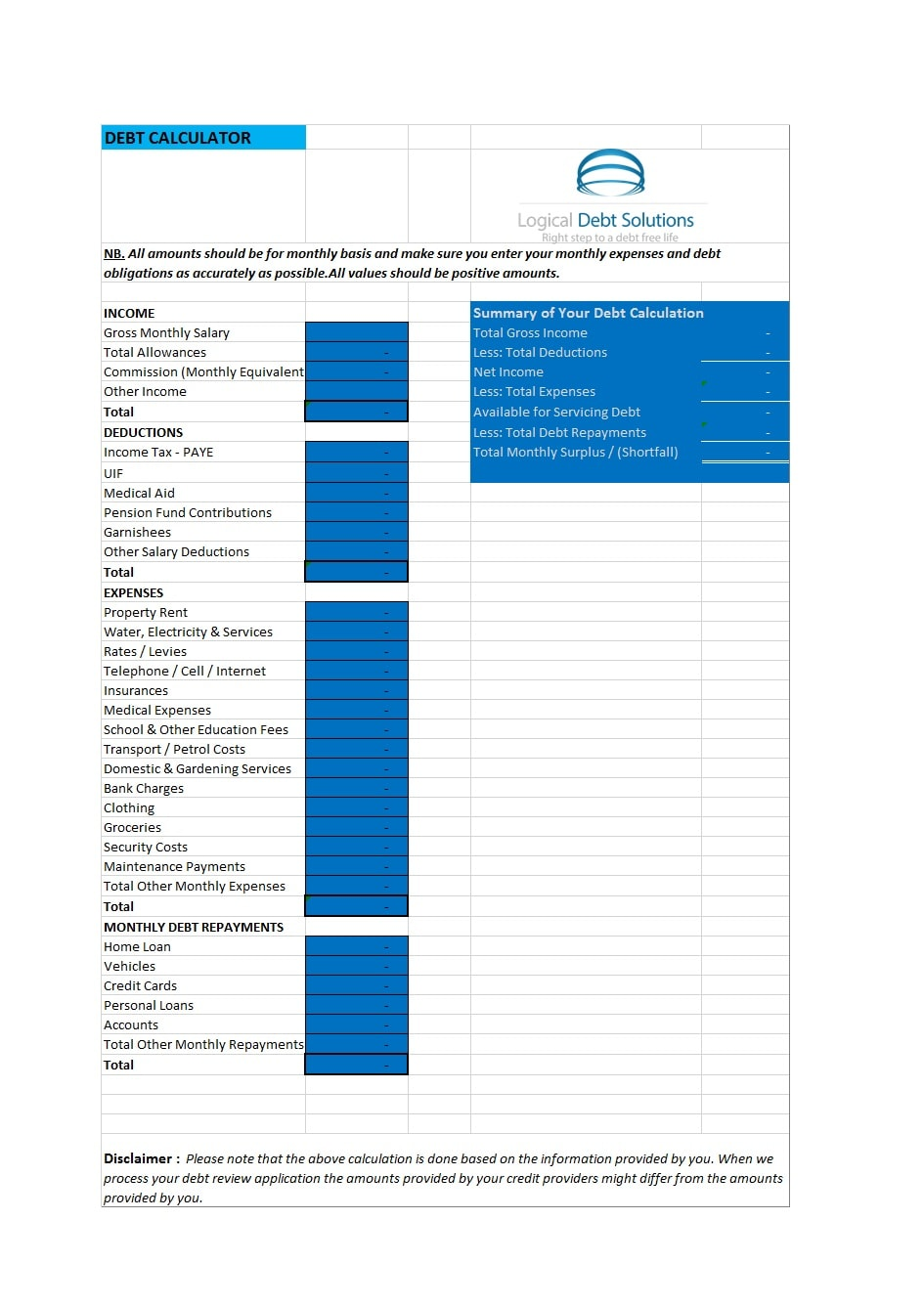 credit card payoff spreadsheet 25