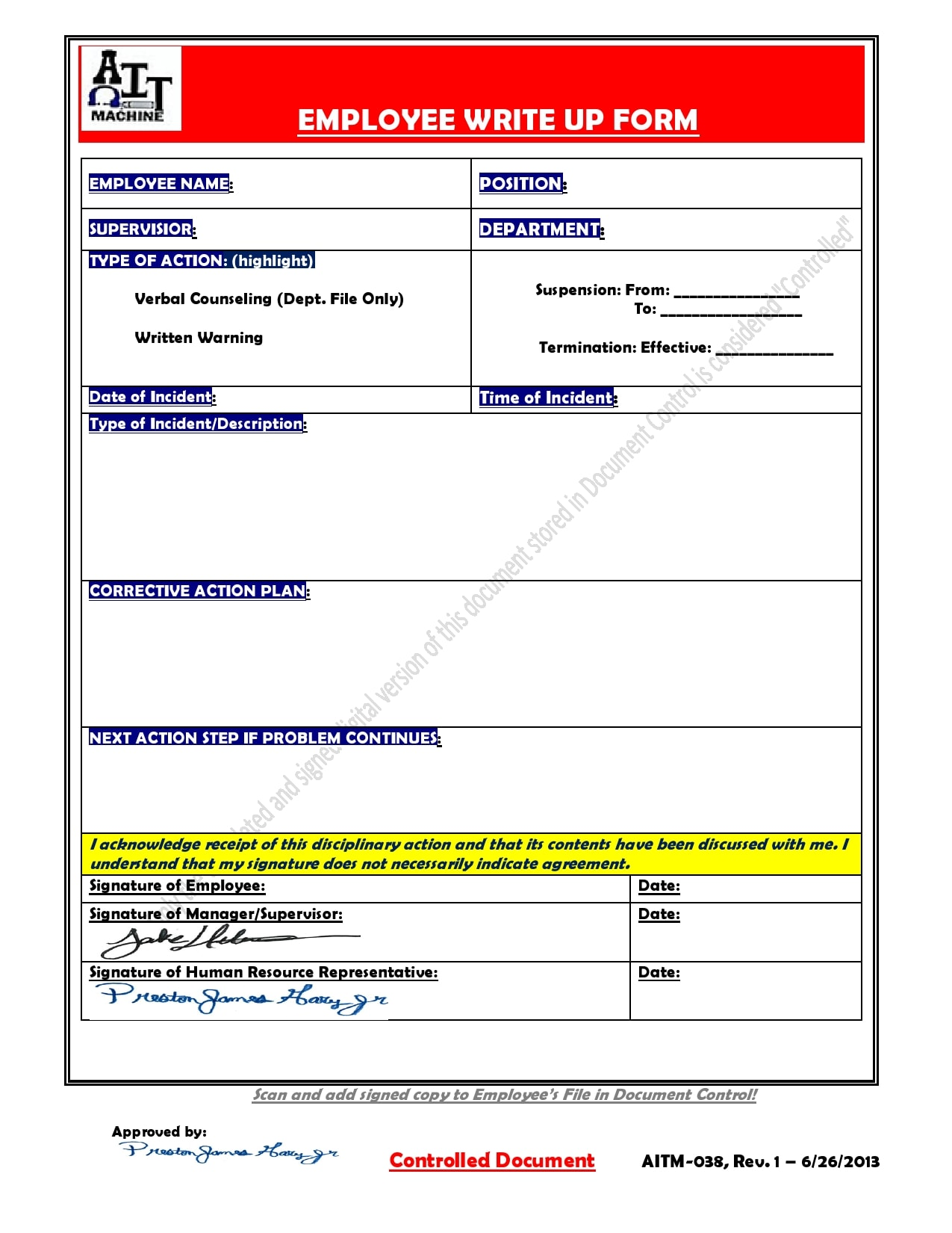 employee write up form 04