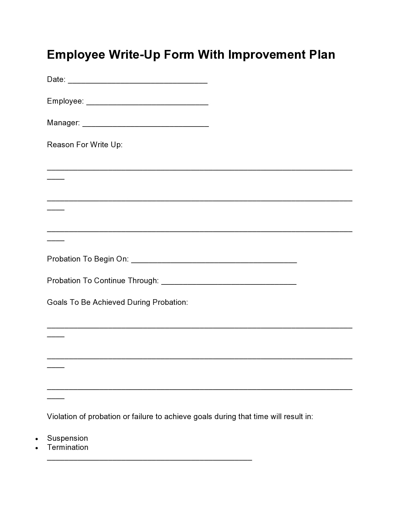 employee write up form 06