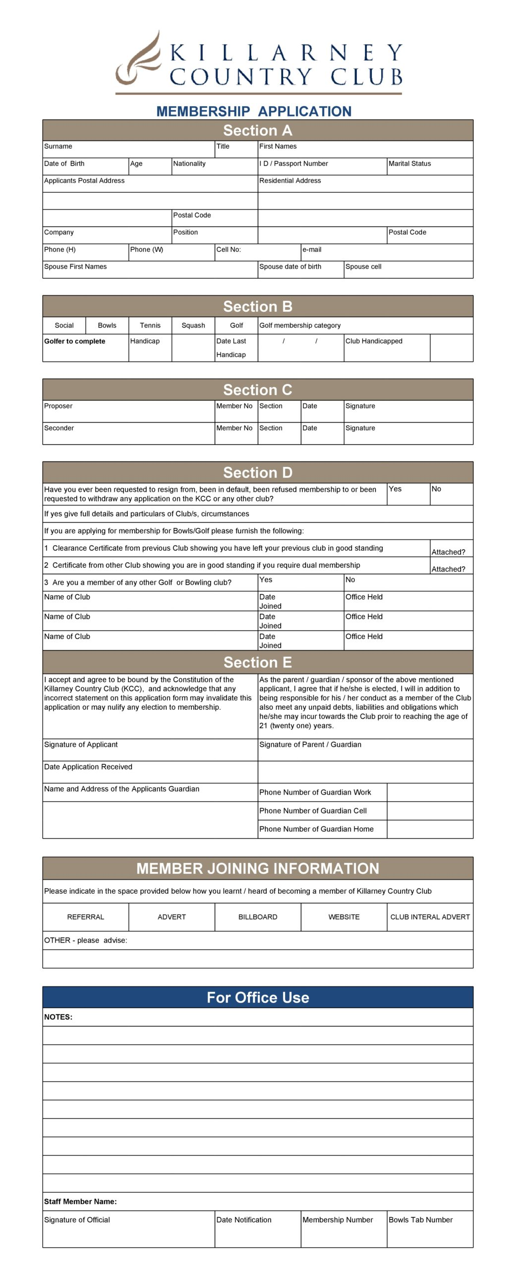 membership application template 05