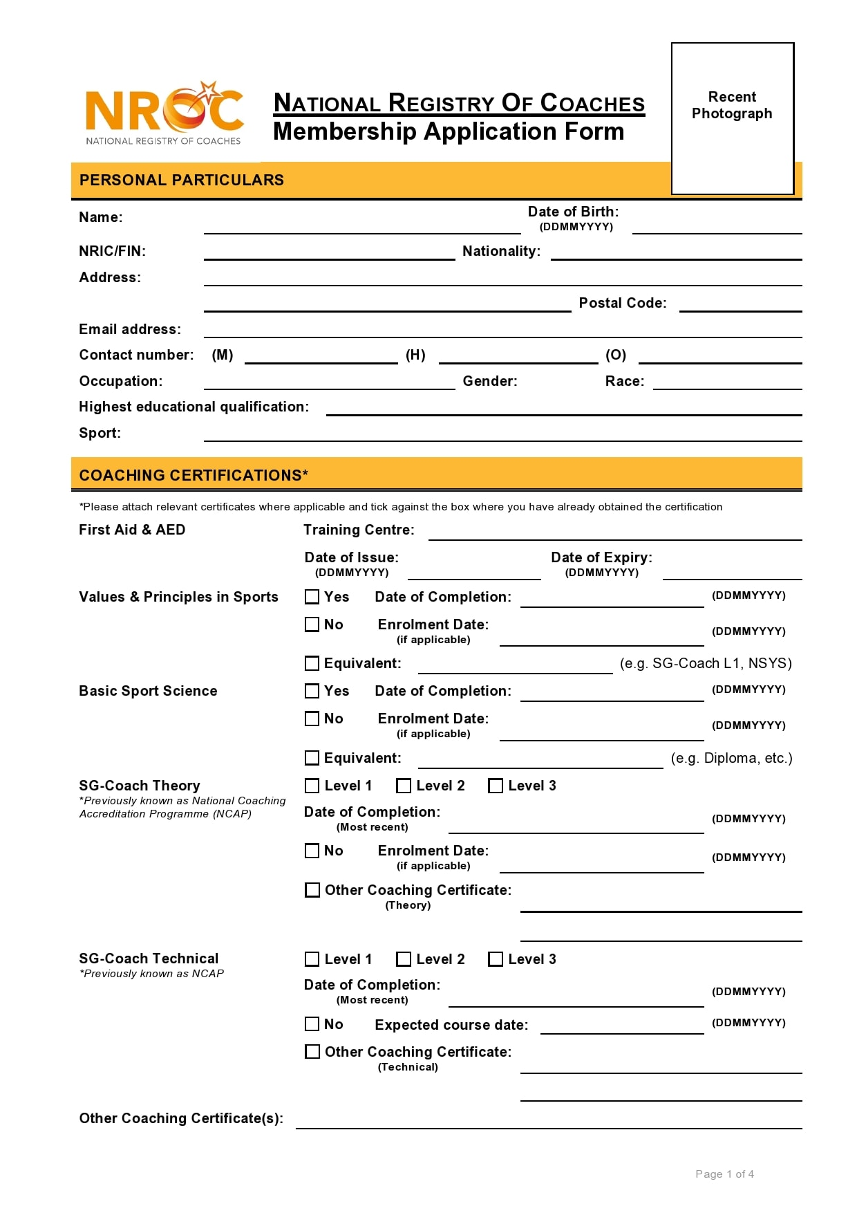 membership application template 16
