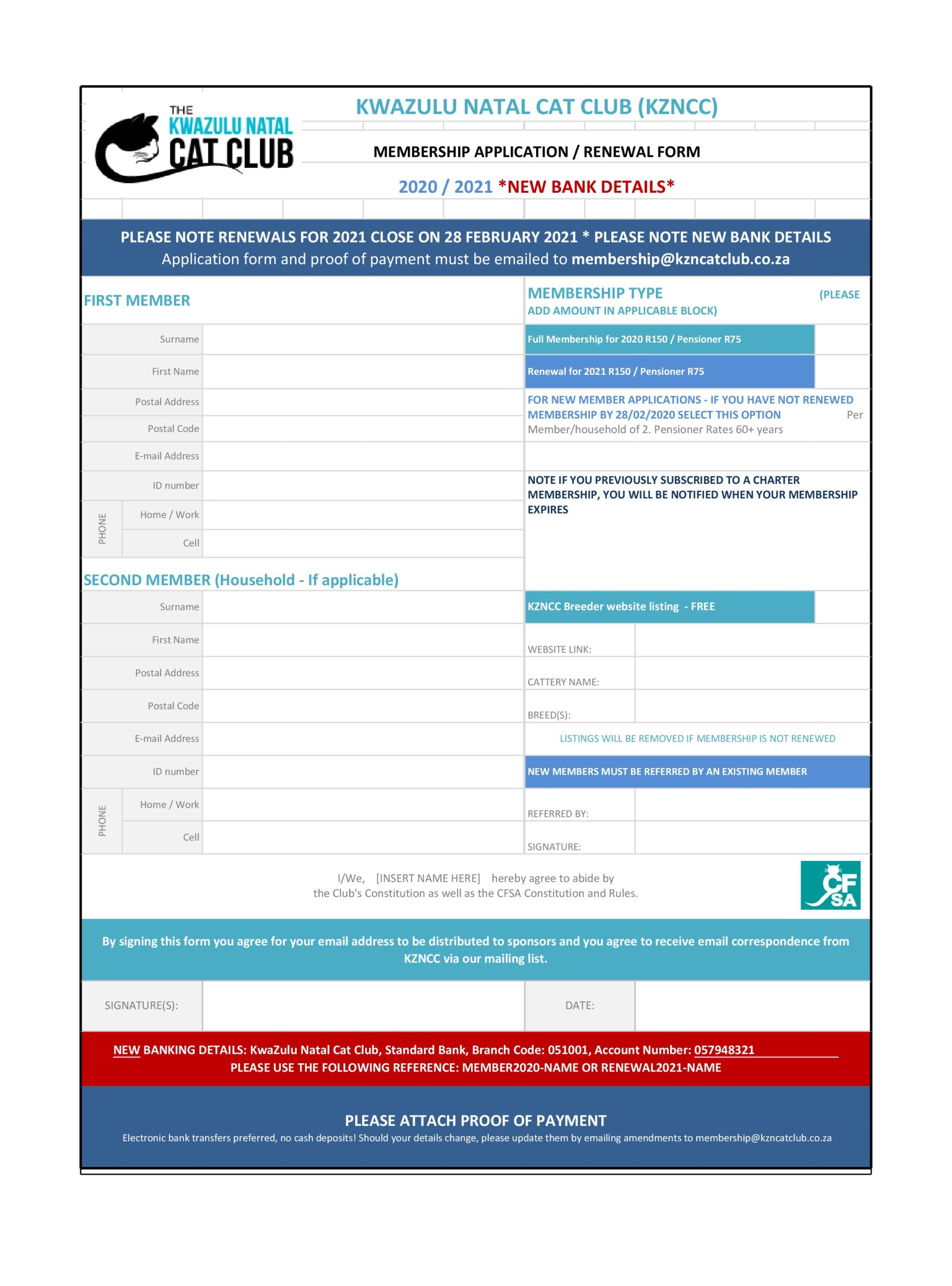 membership application template 30