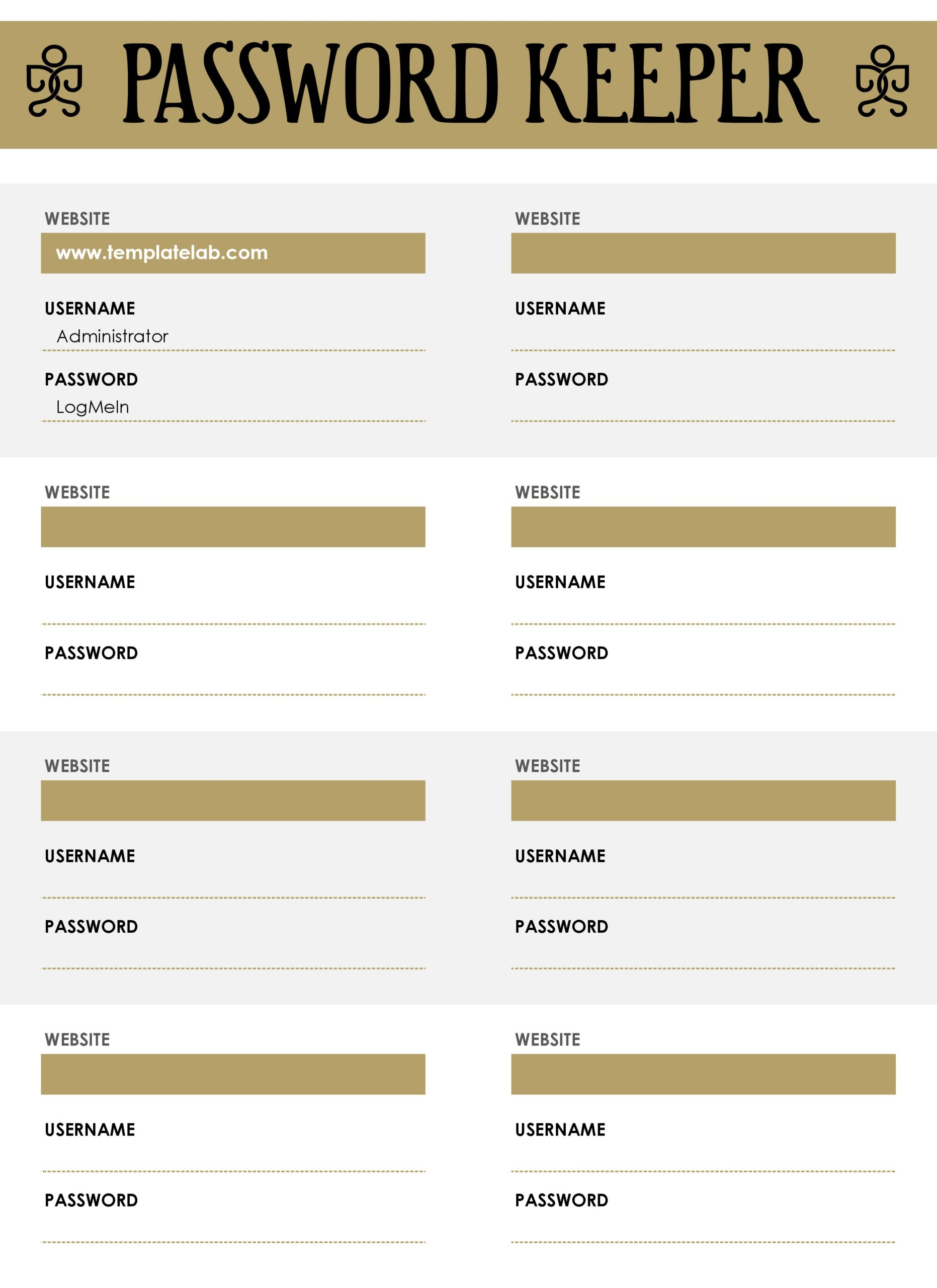 password list template 11
