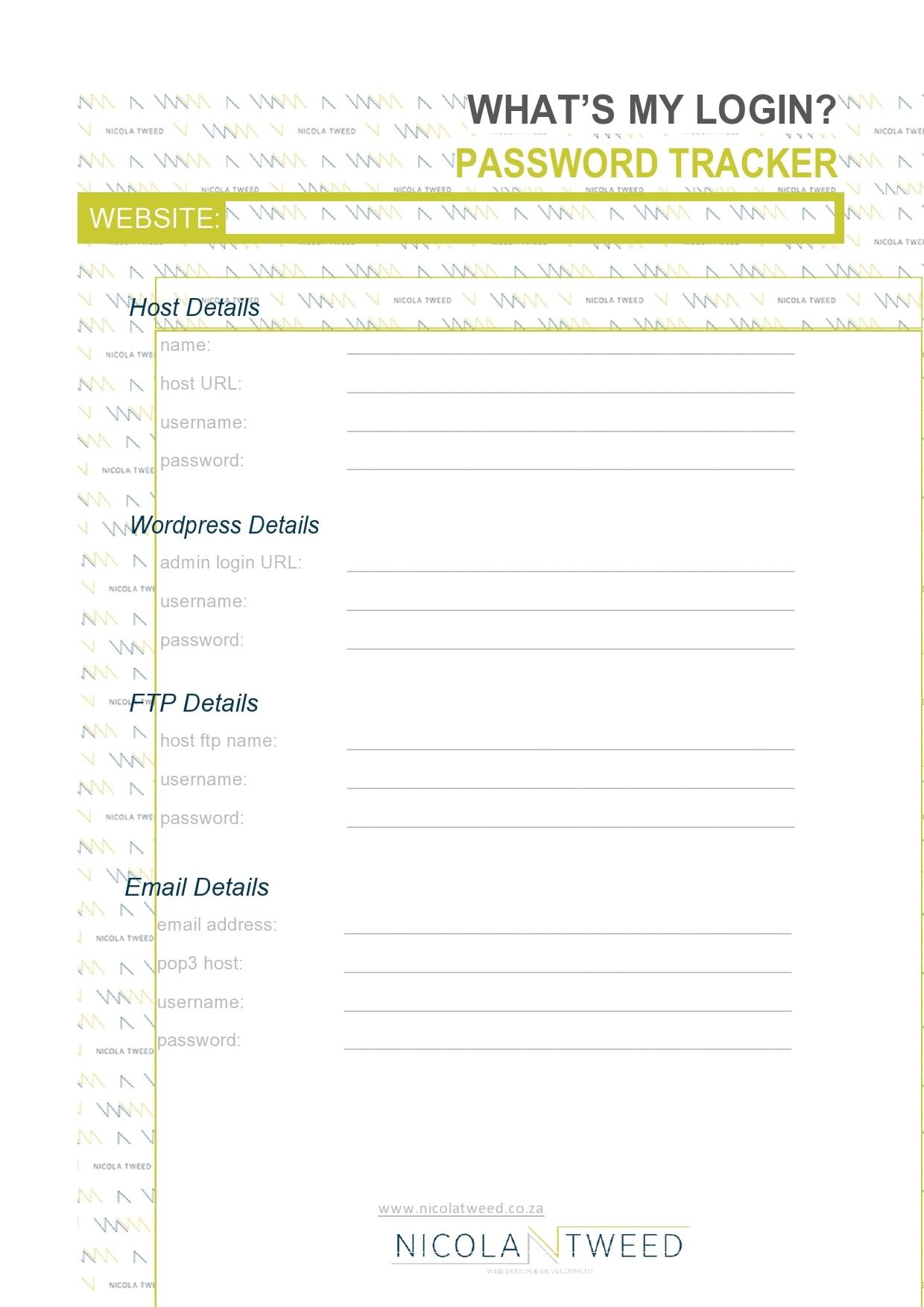 password list template 30
